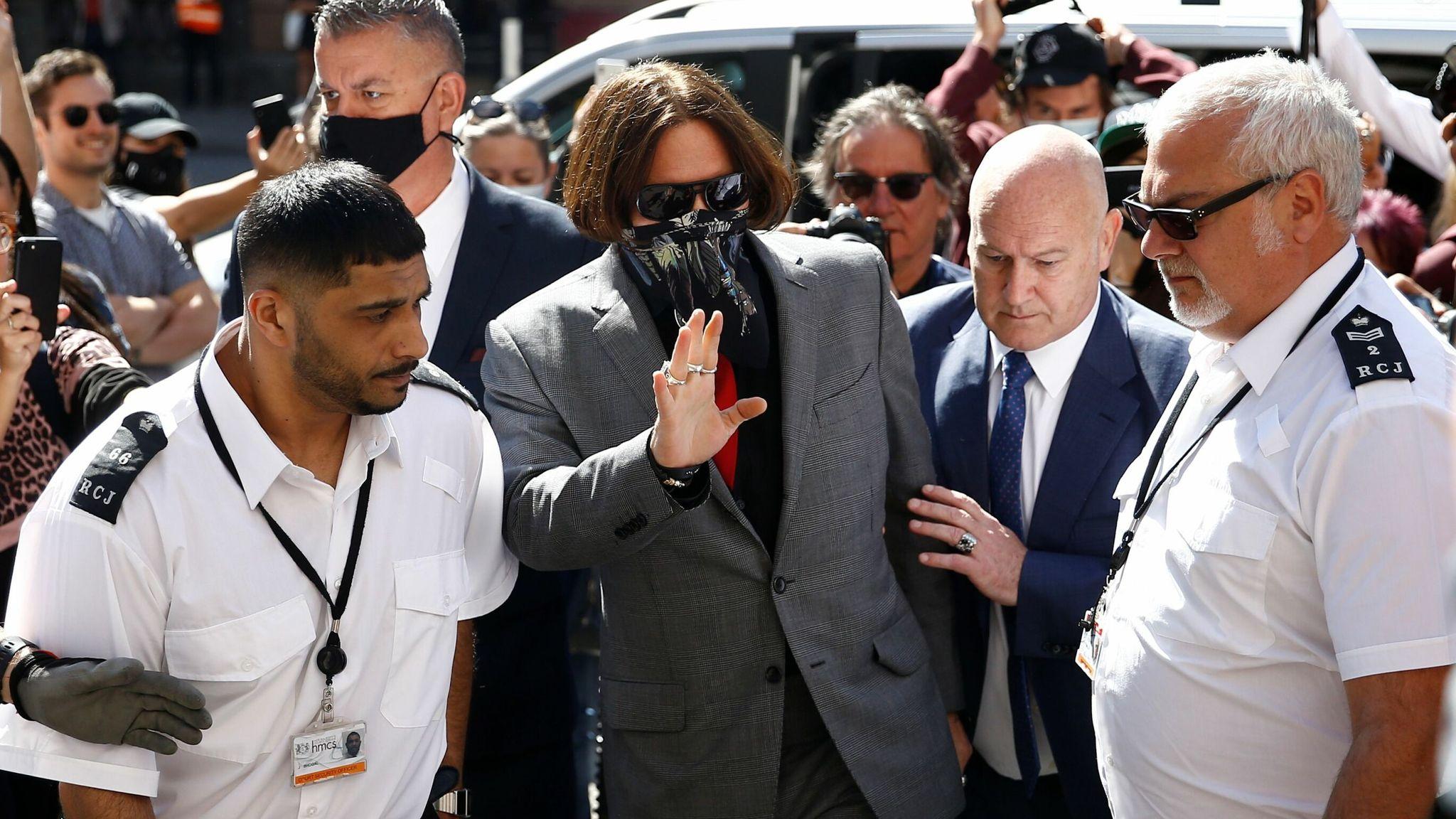 Johnny Depp arrives on 21 July