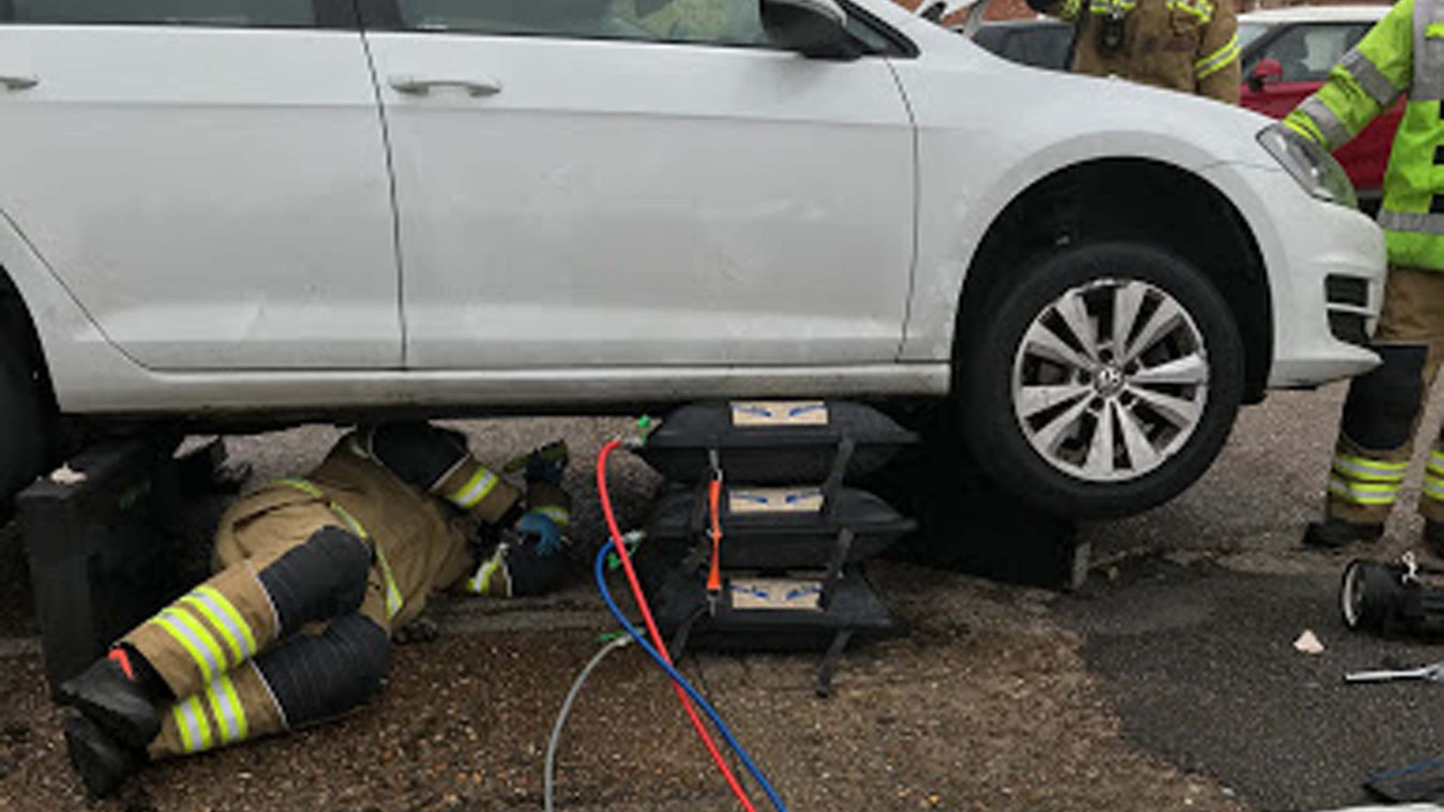 Handout photo dated 15/07/2020 issued by the RSPCA of one of the three vehicles that rescuers partially dismantled while trying to free a kitten that kept climbing into engines in King's Lynn, Norfolk.