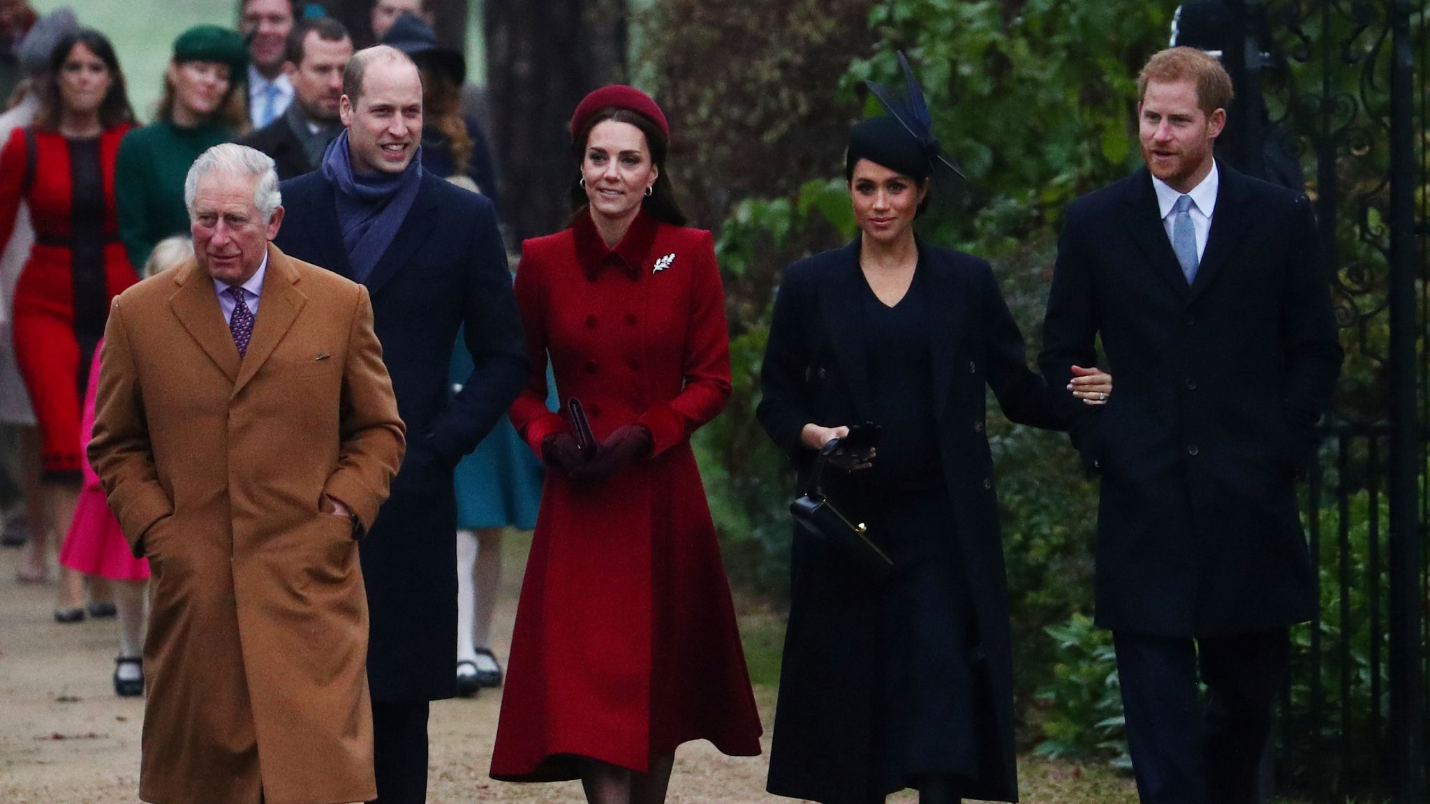 The Duke and Duchess of Cambridge are claimed to have a tense relationship with the Duke and Duchess of Sussex