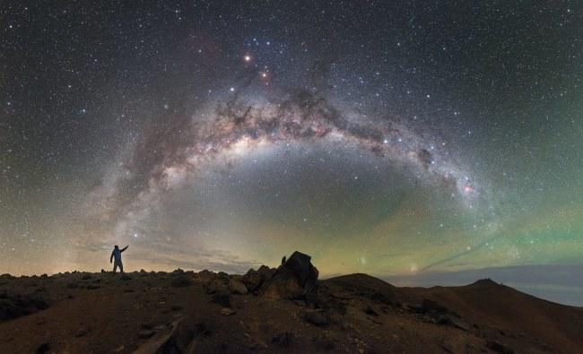 night sky person