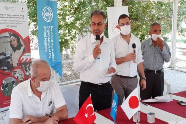 Turkey | FAO and Japan support Syrian refugees and Turkish host communities in starting agribusinesses