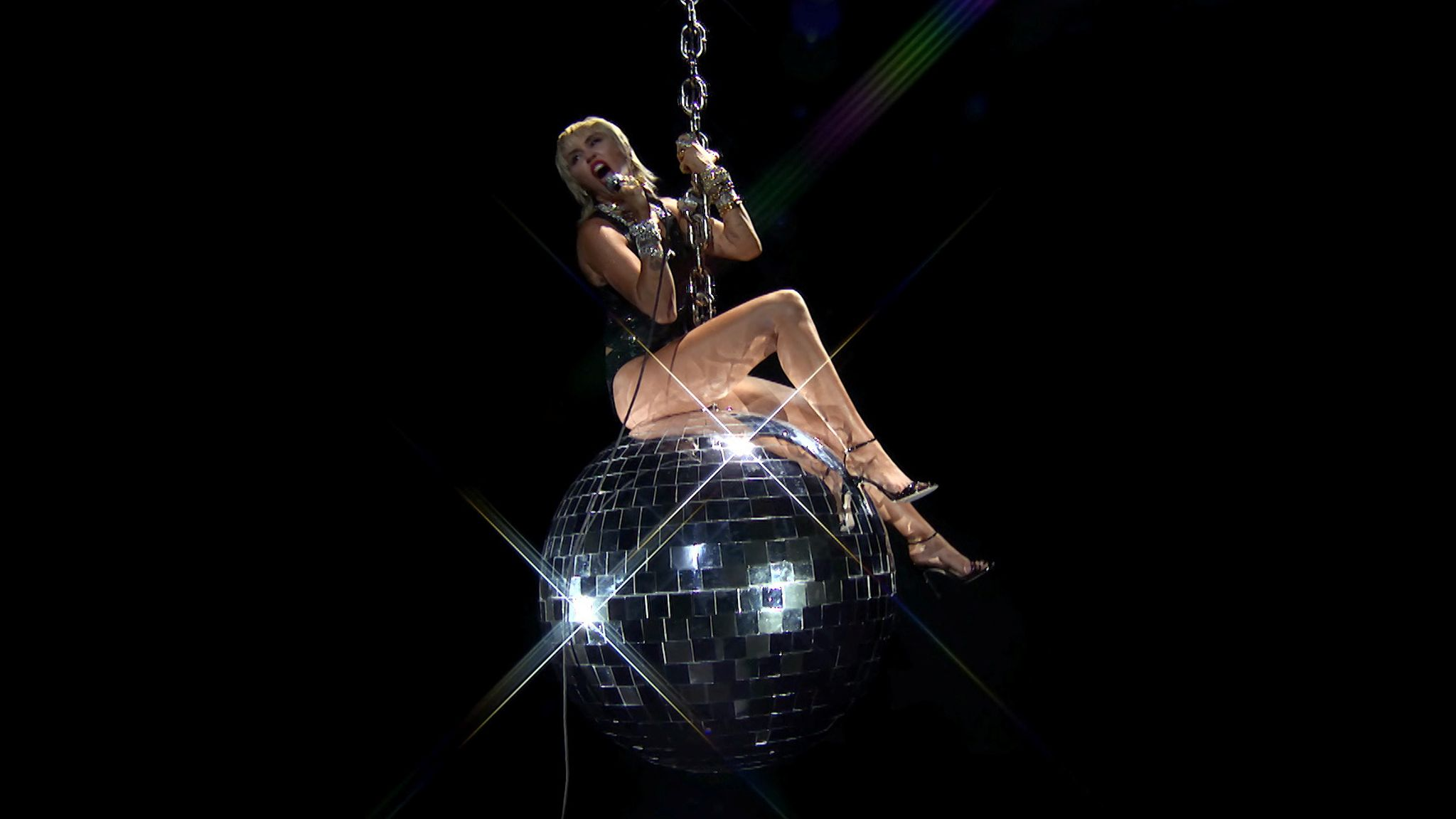 Miley Cyrus performs during the 2020 MTV VMAs in this screen grab image made available on August 30, 2020.