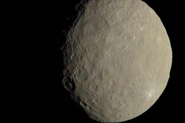 Dawn at Ceres dwarf planet