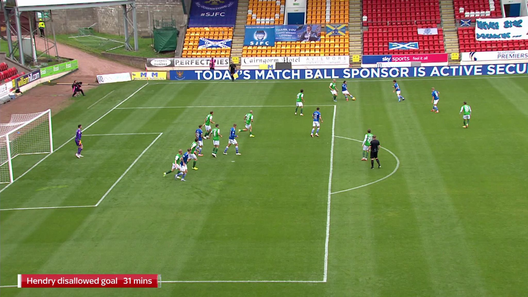 Callum Hendry was a yard onside but his first-half goal was wrongly disallowed