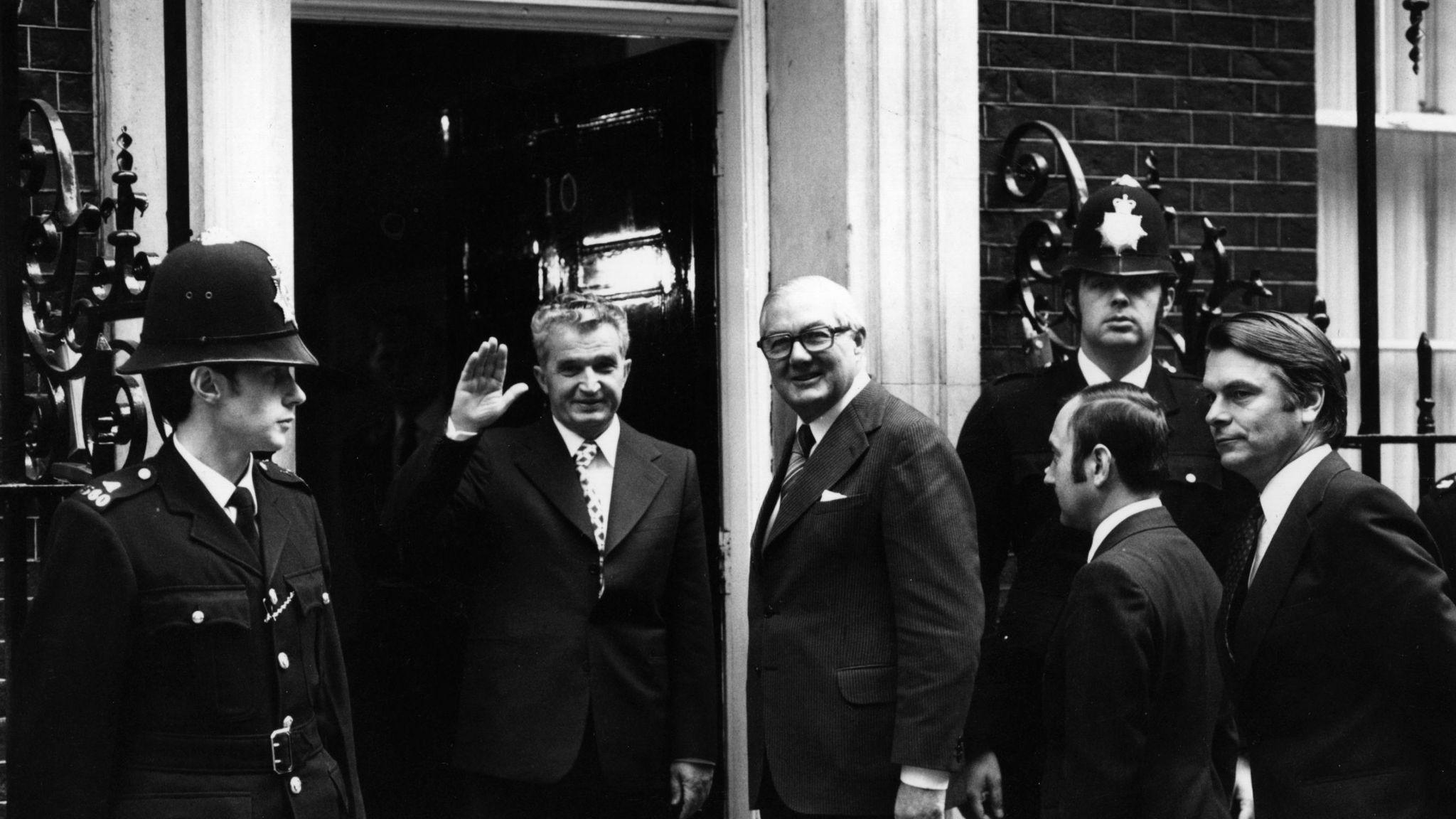 Romanian dictator Nicolae Ceausescu