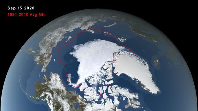 Arctic Sea Ice Minimum Sept. 15, 2020