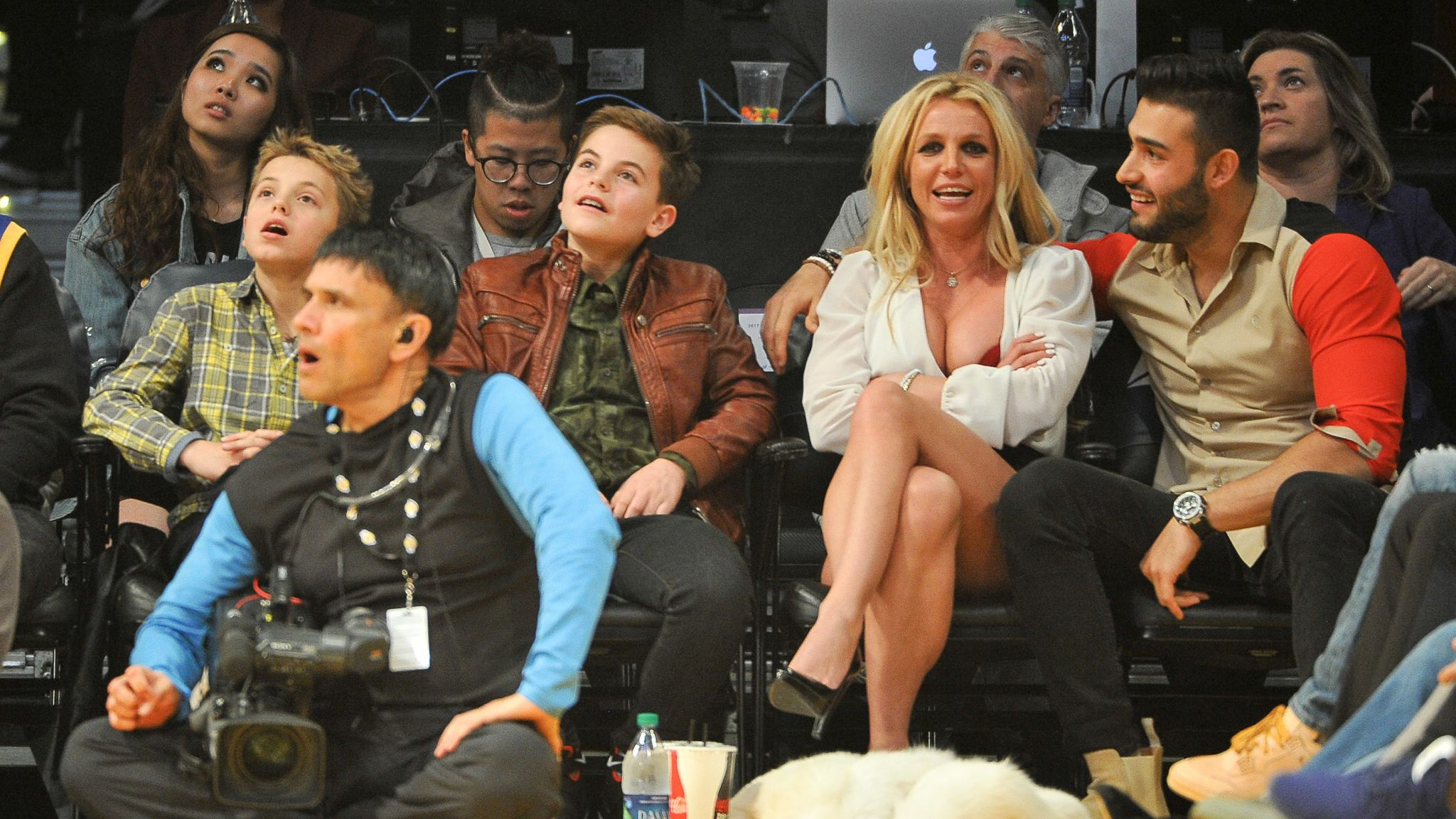 Britney Spears with her sons Sean (L) and Jayden (R) in 2017