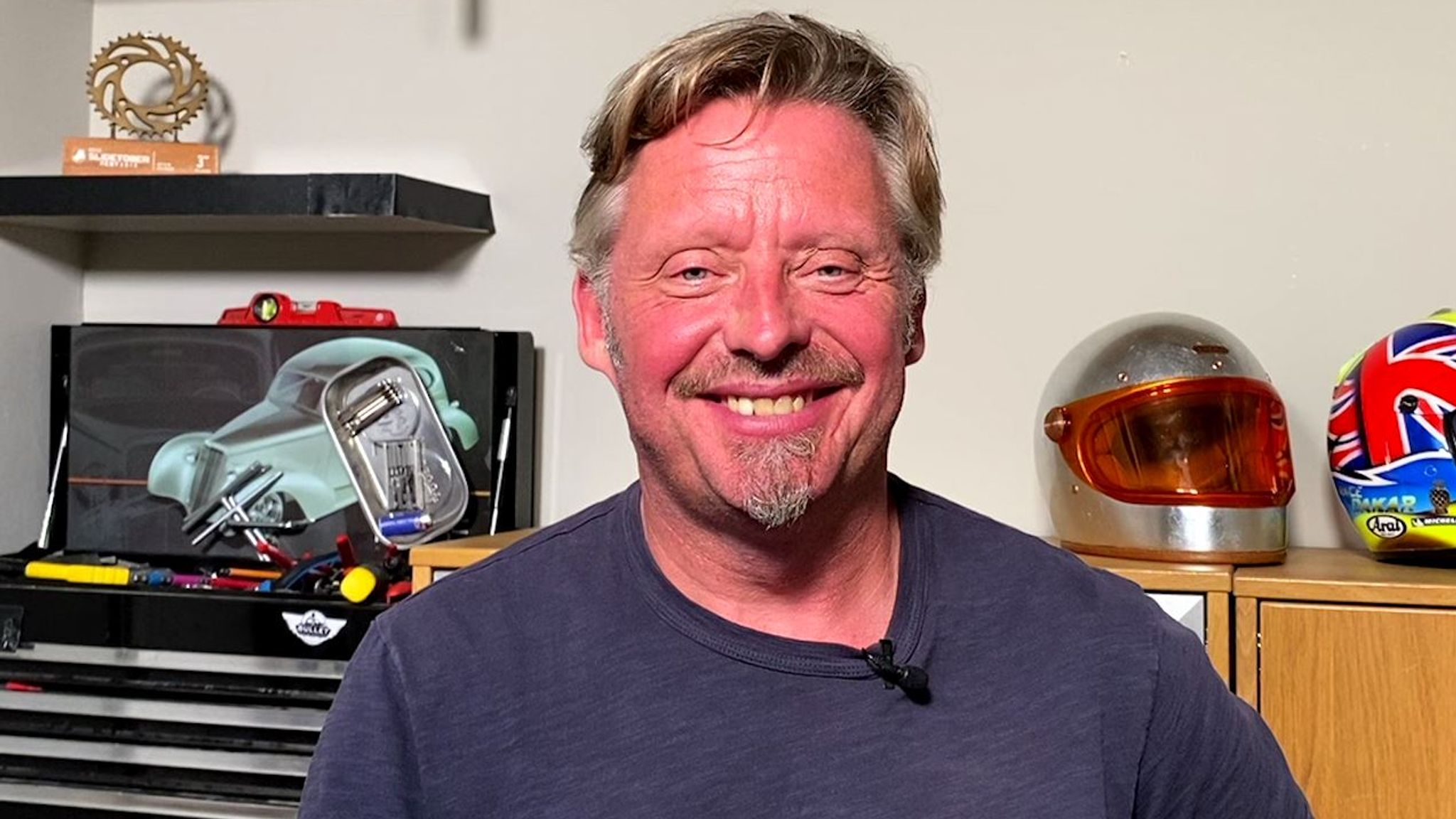Charley Boorman had a big motorcycle accident not long before the trip