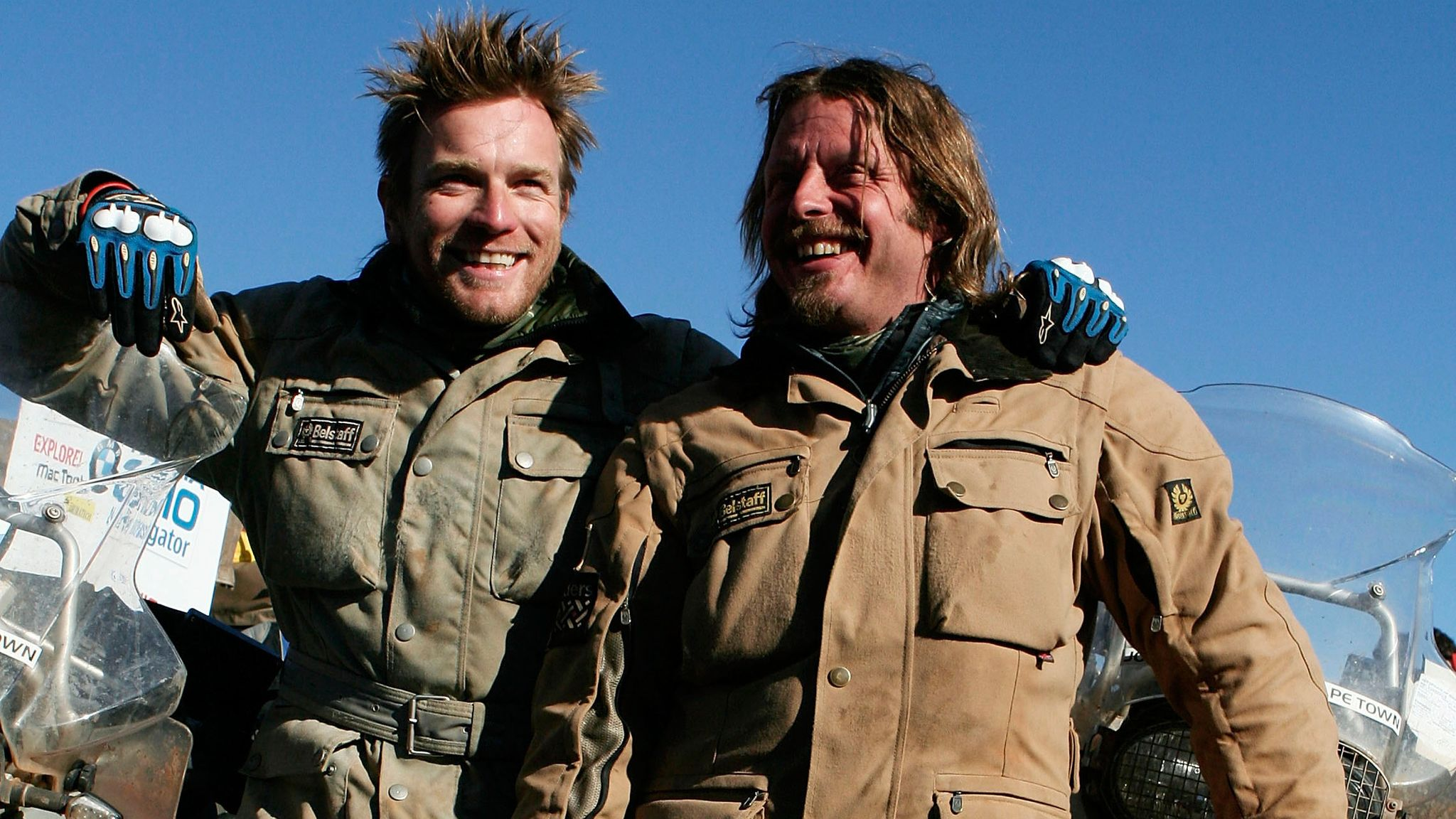 The windswept pair mark the end of The Long Way Down in 2007