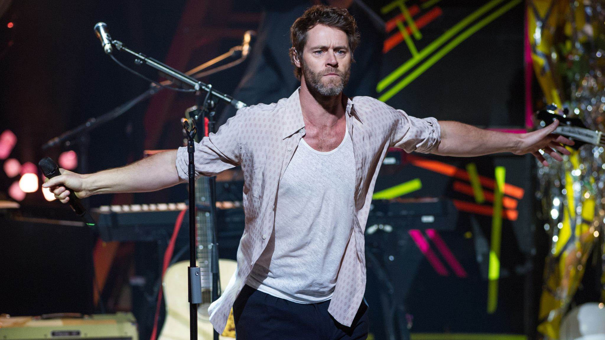 Howard Donald of Take That performs during the 2015 Apple Music Festival at The Roundhouse on September 20, 2015 in London, England
