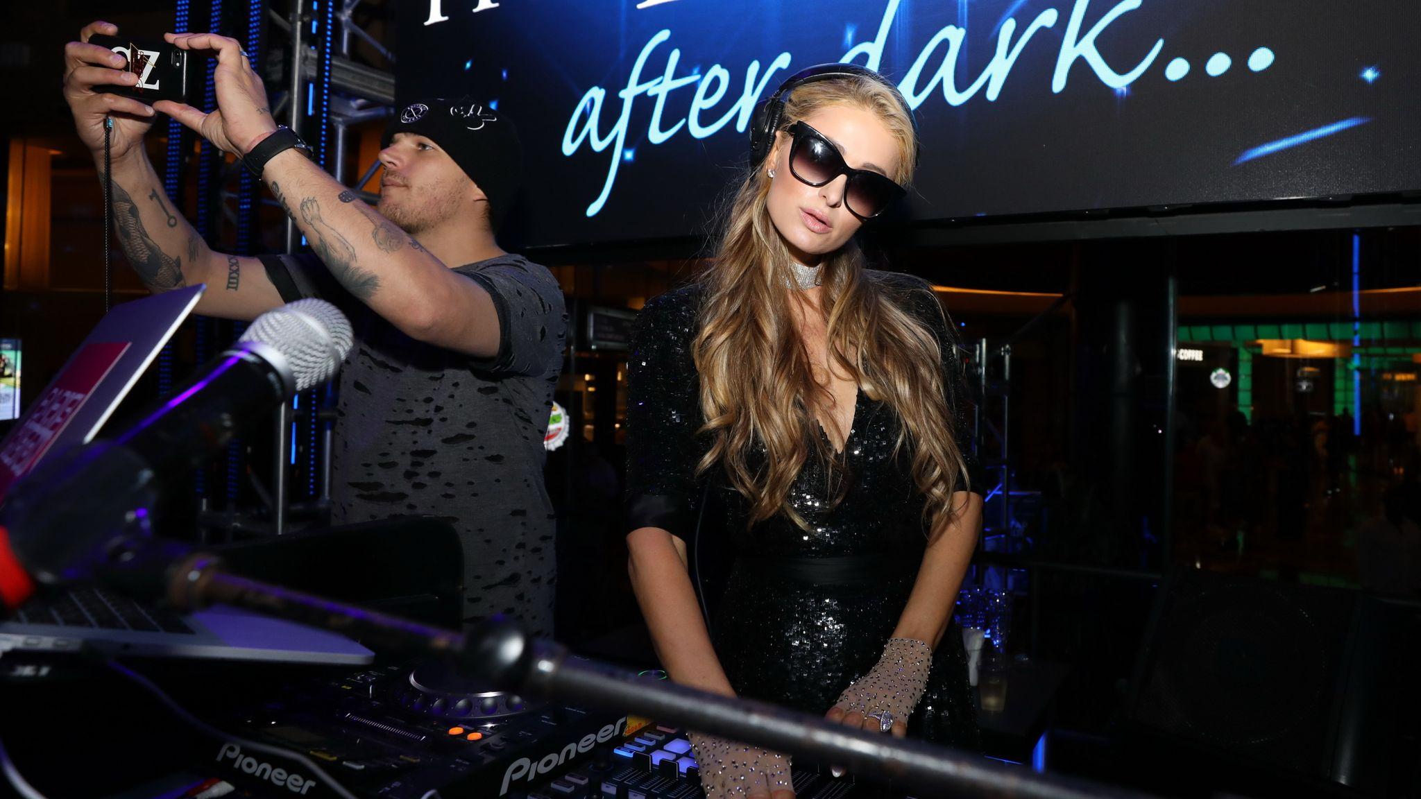 Model, socialite, business woman, singer and DJ, Paris Hilton great-granddaughter of Conrad Hilton Paris Hilton performed a DJ set at The Pool After Dark Harrah...s Atlantic City, NJ on Saturday September 15, 2018