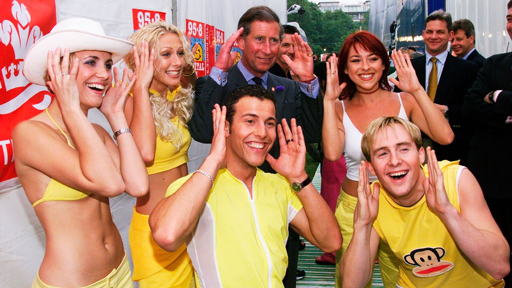 Steps and Prince Charles at Party In The Park in 1999