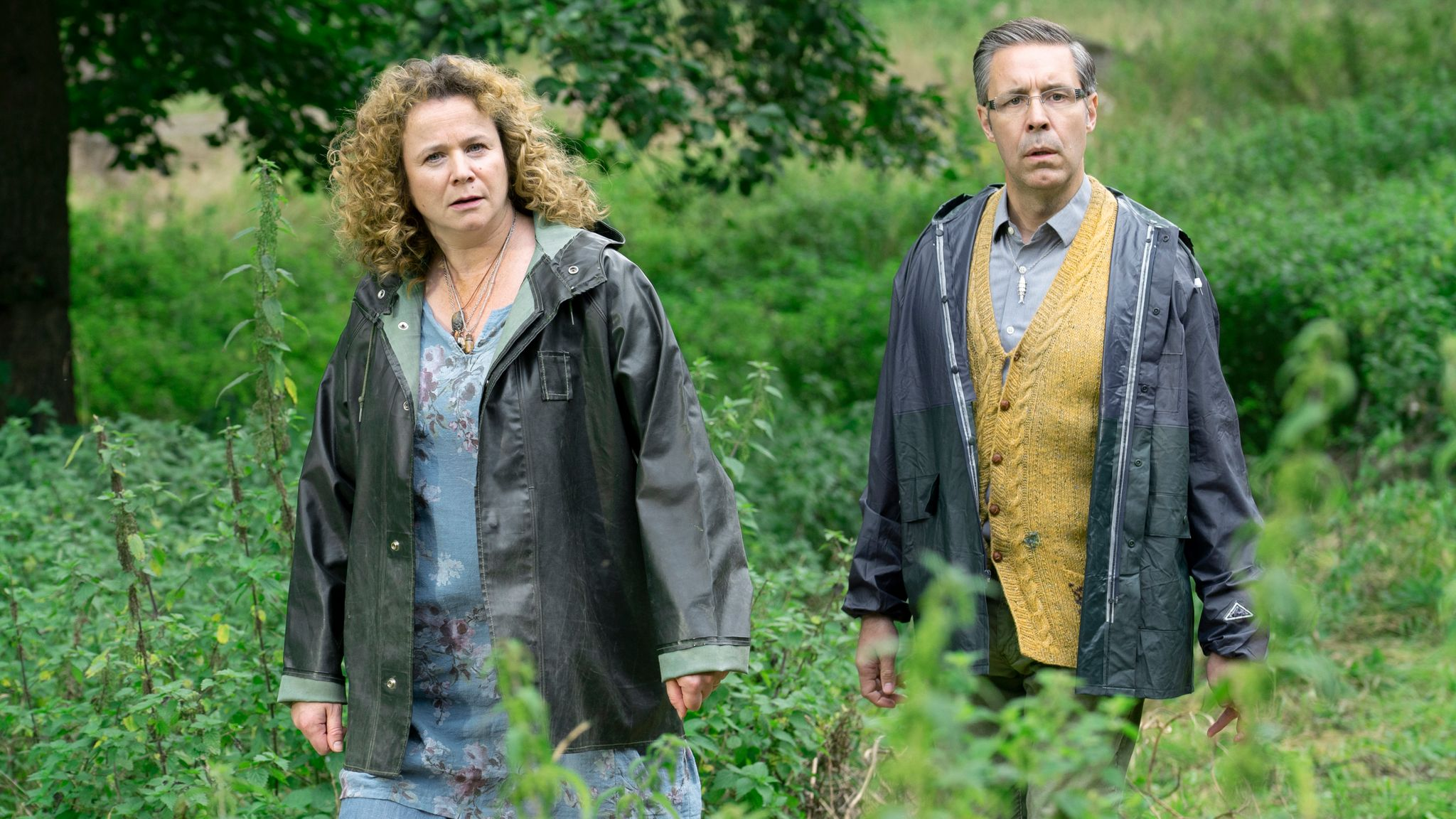 Third Day stars Jude Law, and also Emily Watson and Paddy Considine. Pic: Sky UK/ HBO