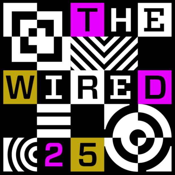 illustration with words the WIRED 25
