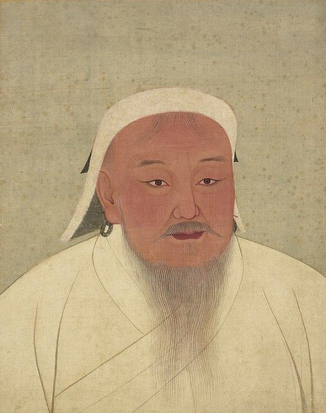 711px- Yuan Emperor Album Genghis Portrait