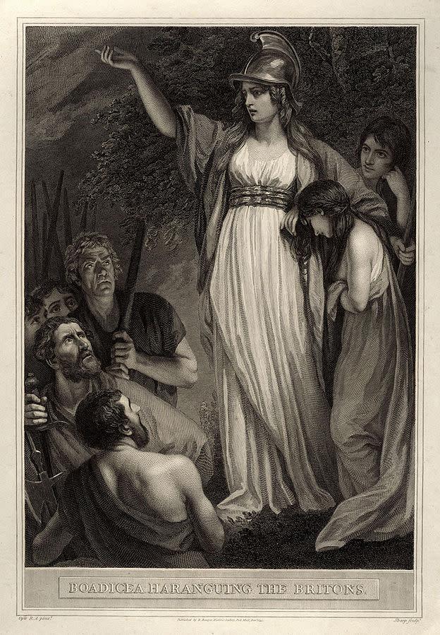 Boadicea Haranguing the Britons (called Boudicca, or Boadicea) by John Opie