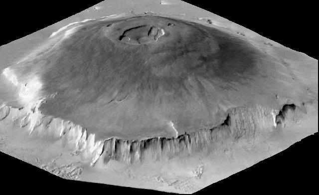 Mars Olympus Mons Volcano - NASA