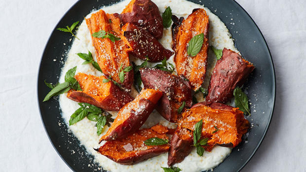 roasted-sweet-potatoes-with-chile-yogurt-and-mint-michael-graydon-nikole-harriott-620.jpg