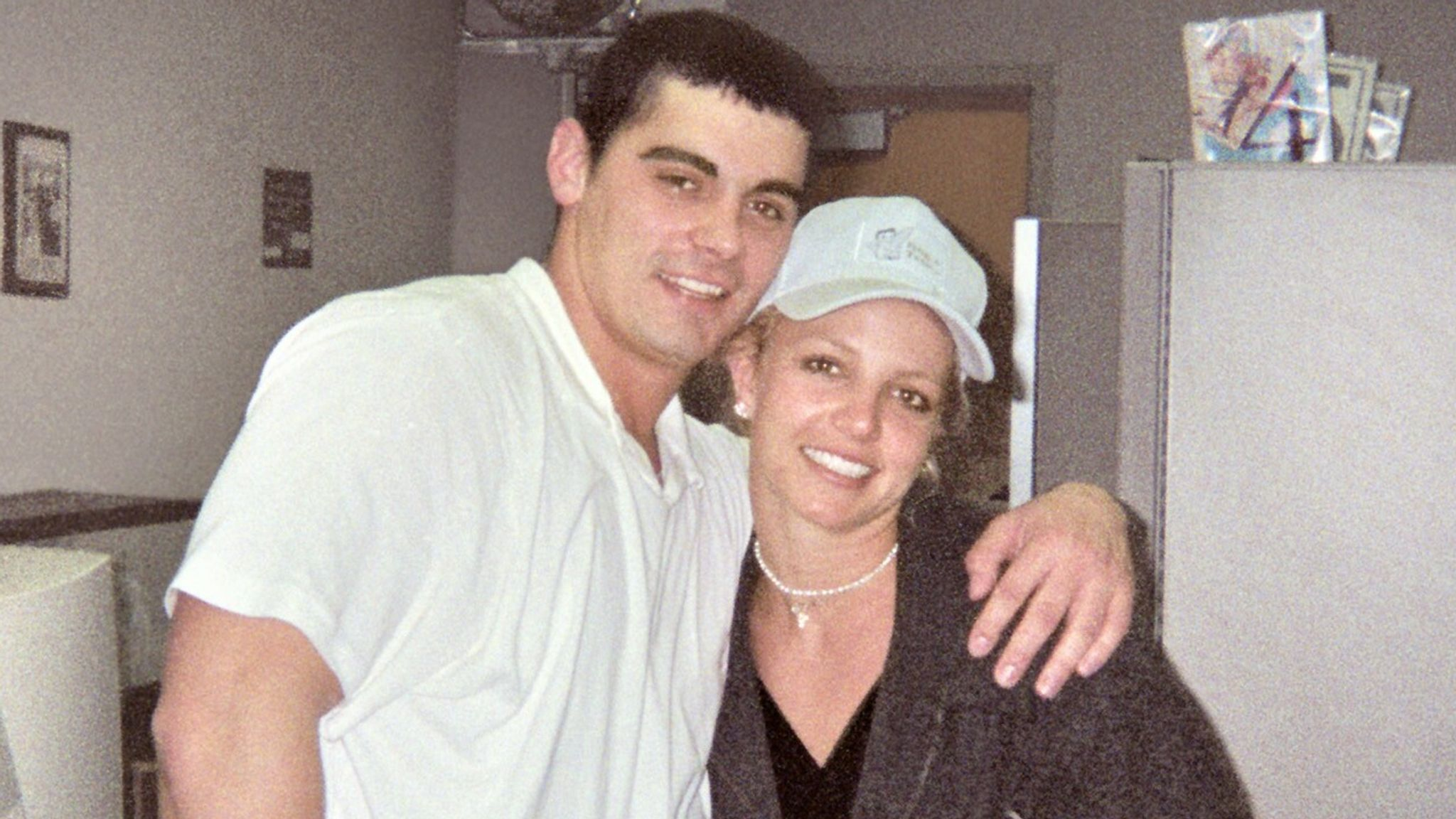 Britney Spears with husband Jason Alexander after getting married at the Little White Chapel in Las Vegas after their 4am wedding ceremony on January 3rd in 2004