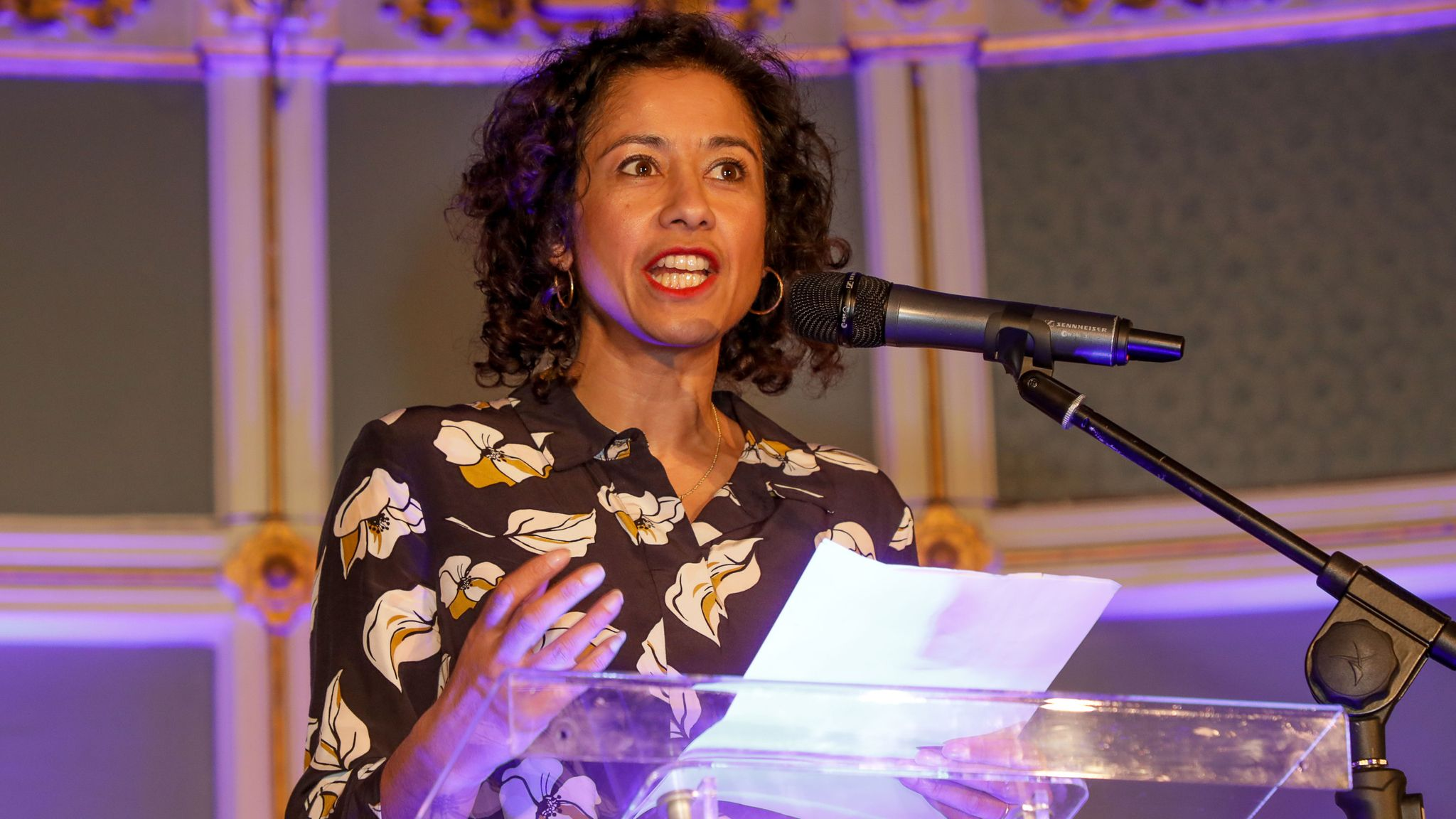 Samira Ahmed attends The Broadcasting Equality Bash to honour Afua Hirsch with the CBE Campaigner Of The Year award at The Urdang on March 1, 2020 in London