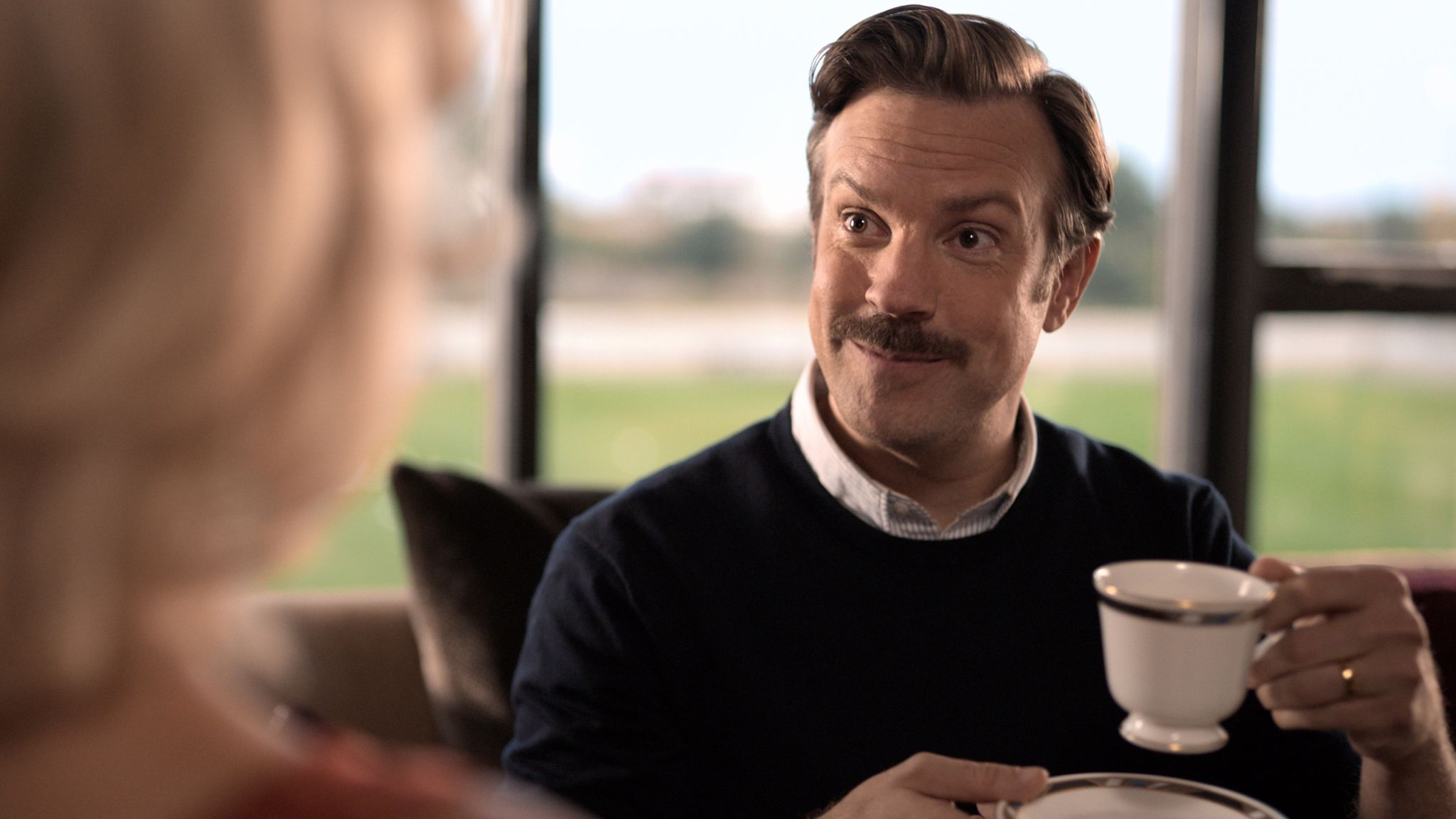 Jason Sudeikis in Ted Lasso. Pic: Apple +