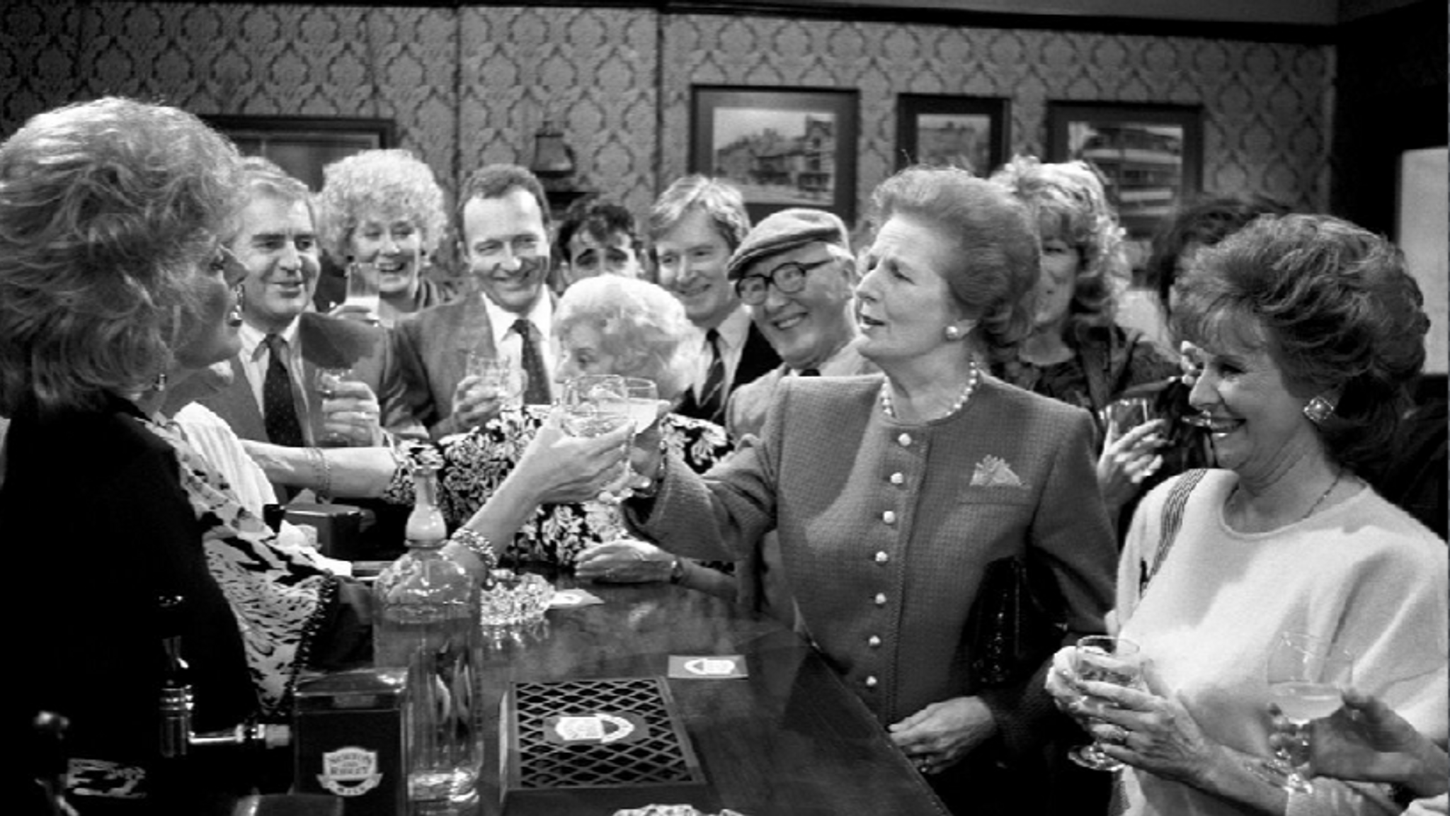 Margaret Thatcher visited the set of the soap in 1990