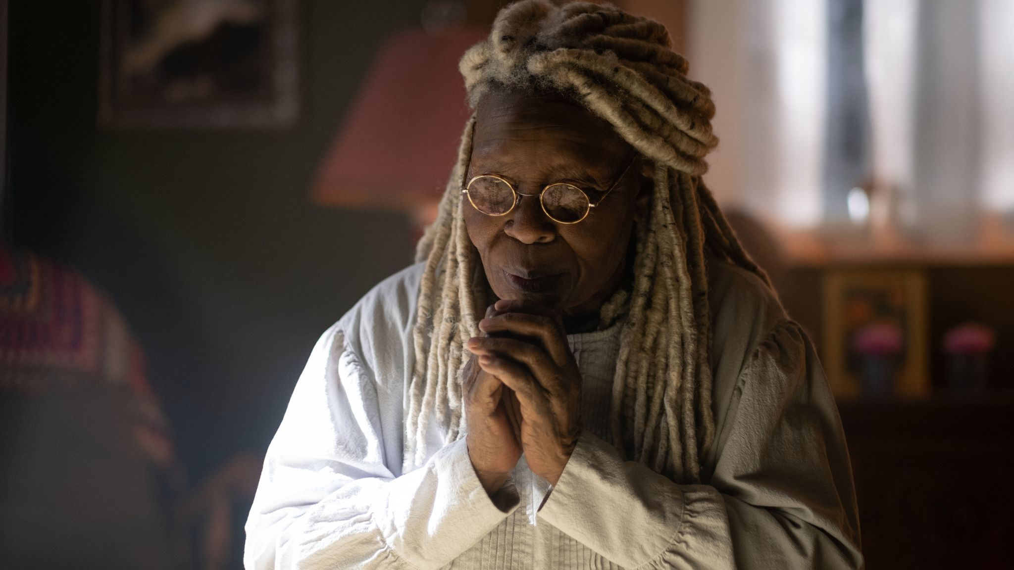 Whoopi Goldberg as Mother Abigail in The Stand. Pic: Robert Falconer/CBS