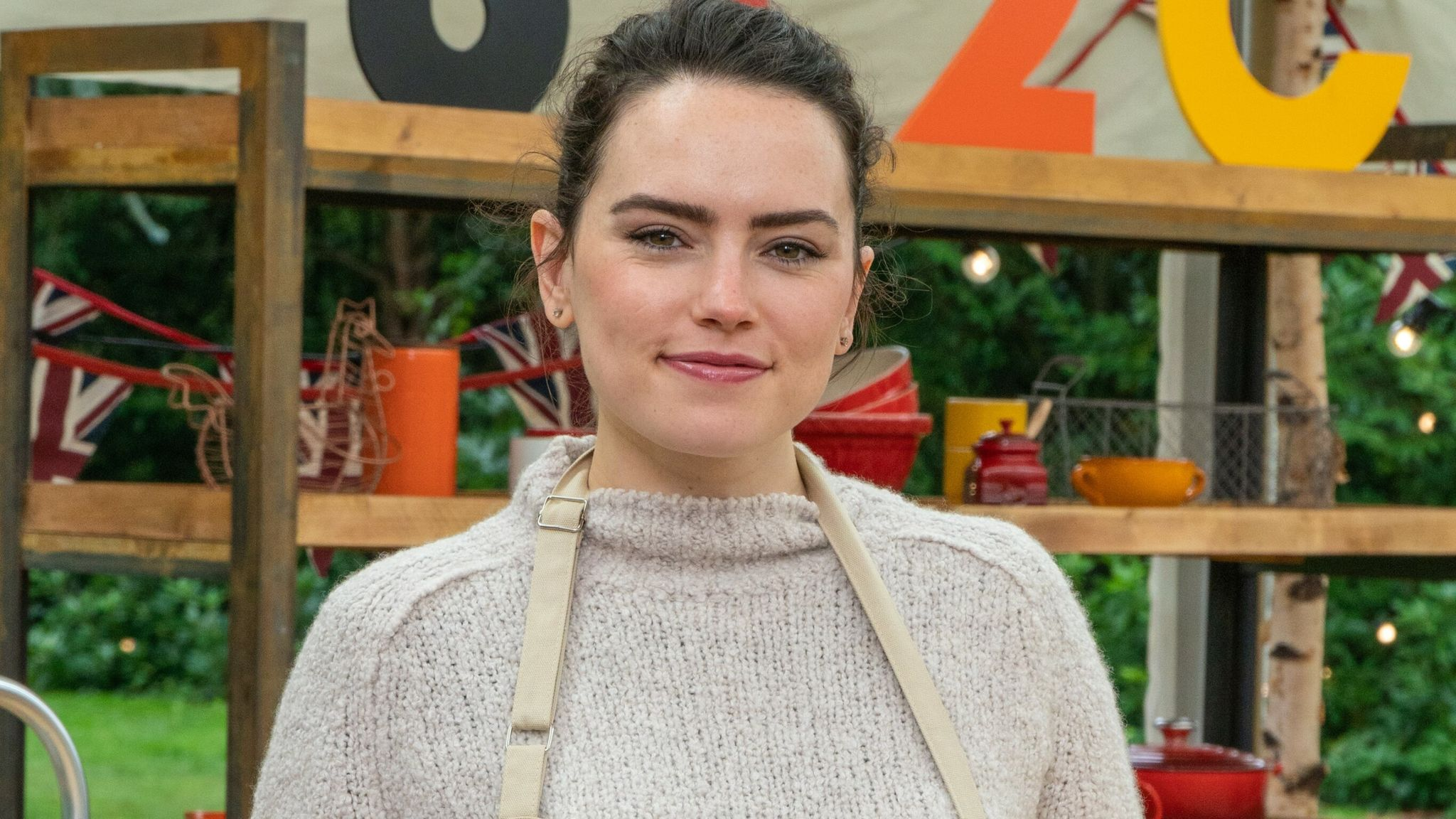 Daisy Ridley is taking part in The Great Celebrity Bake Off For Stand Up To Cancer. Pic: Channel 4