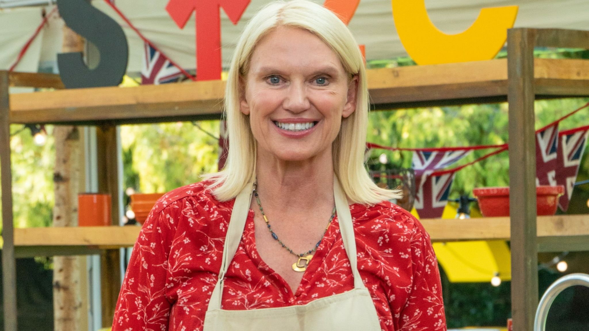 Anneka Rice is taking part in The Great Celebrity Bake Off for Stand Up To Cancer. Pic: Channel 4