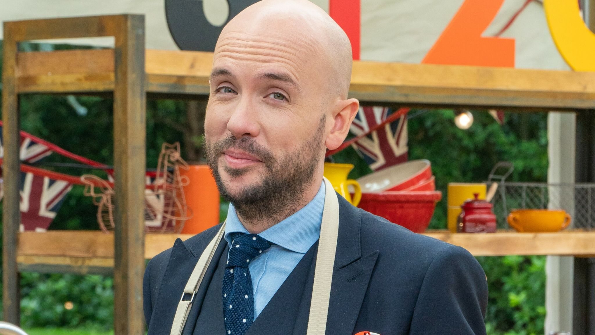 Tom Allen is taking part in The Great Celebrity Bake Off. Pic: Channel 4