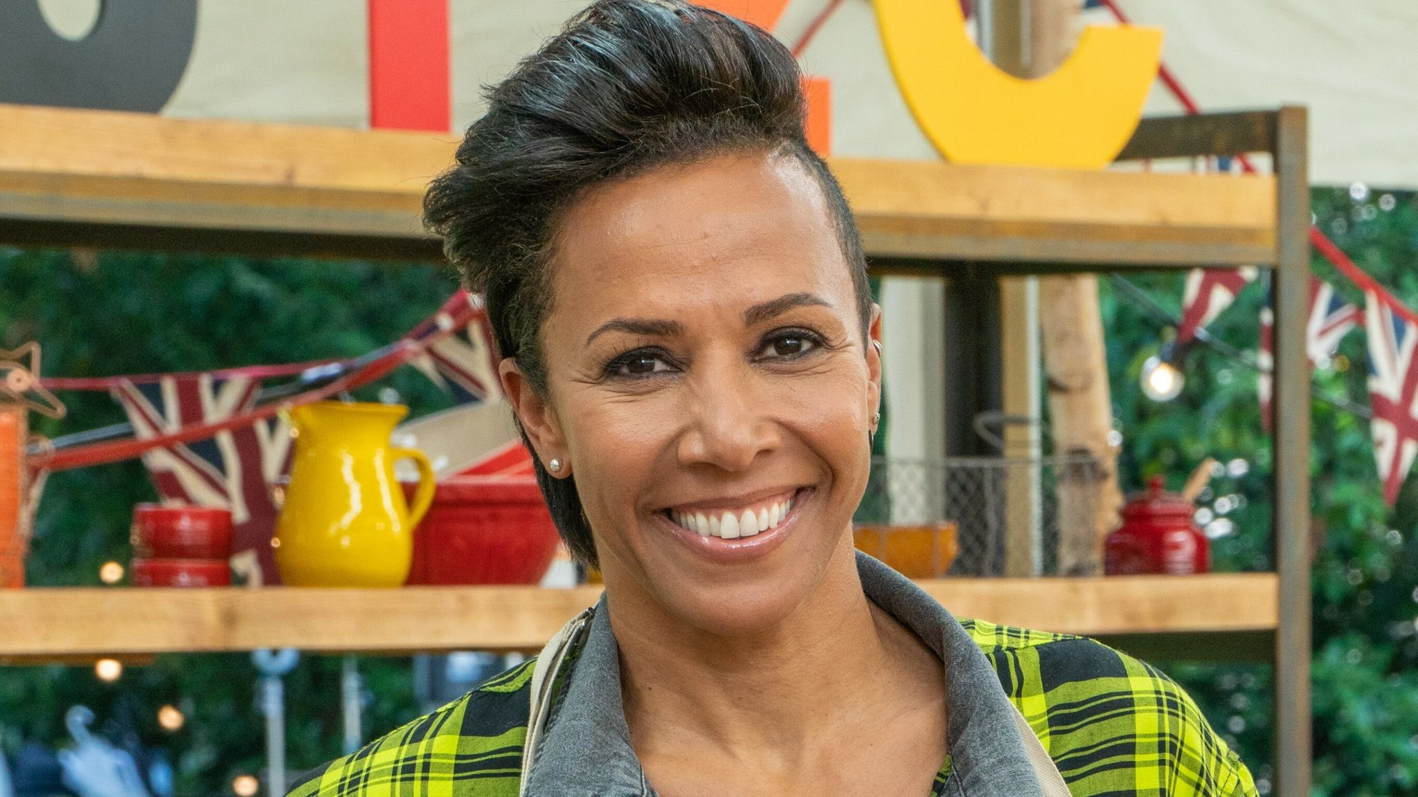 Dame Kelly Holmes is taking part in The Great Celebrity Bake Off. Pic: Channel 4
