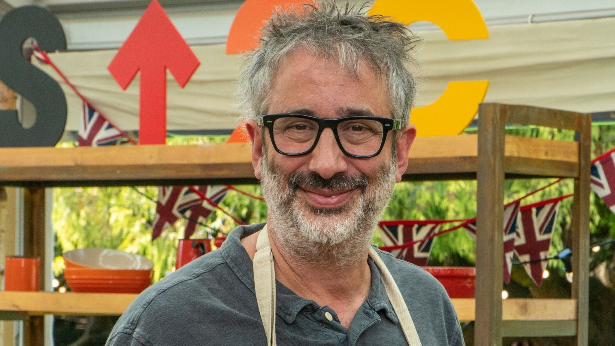 David Baddiel is taking part in The Great Celebrity Bake Off. Pic: Channel 4