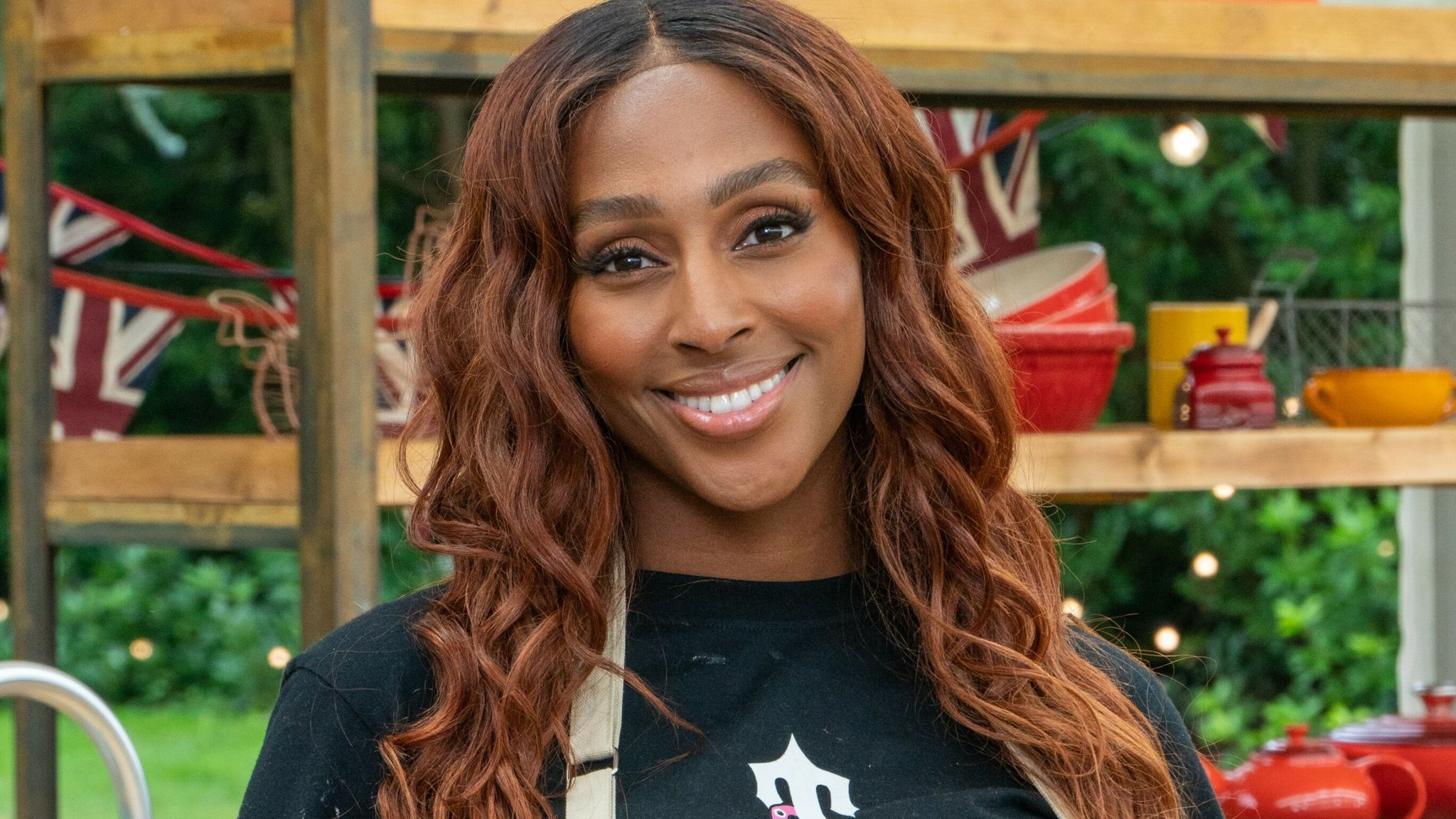 Alexandra Burke is taking part in The Great Celebrity Bake Off. Pic: Channel 4