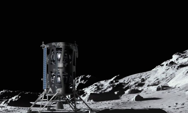 The IM-1 lander, built for NASA by Intuitive Machines, is headed to Vallis Schröteri, close to the site where Apollo 18 would have landed if the mission had not been canceled. (Credit: Intuitive Machines)