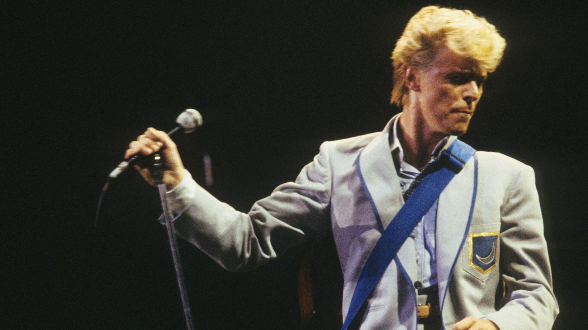 David Bowie in concert on his 'Serious Moonlight' tour in 1983. Pic: Andre Csillag/Shutterstock