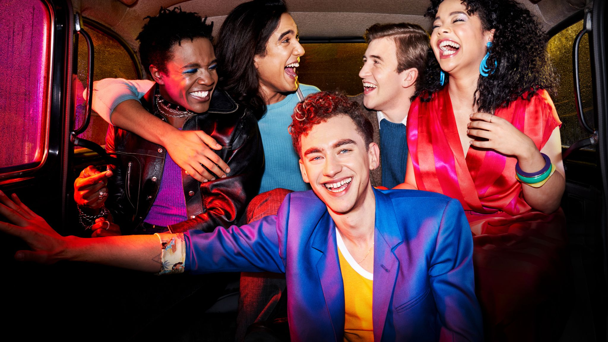 Olly Alexander leads the cast of It's A Sin. Pic: Channel 4