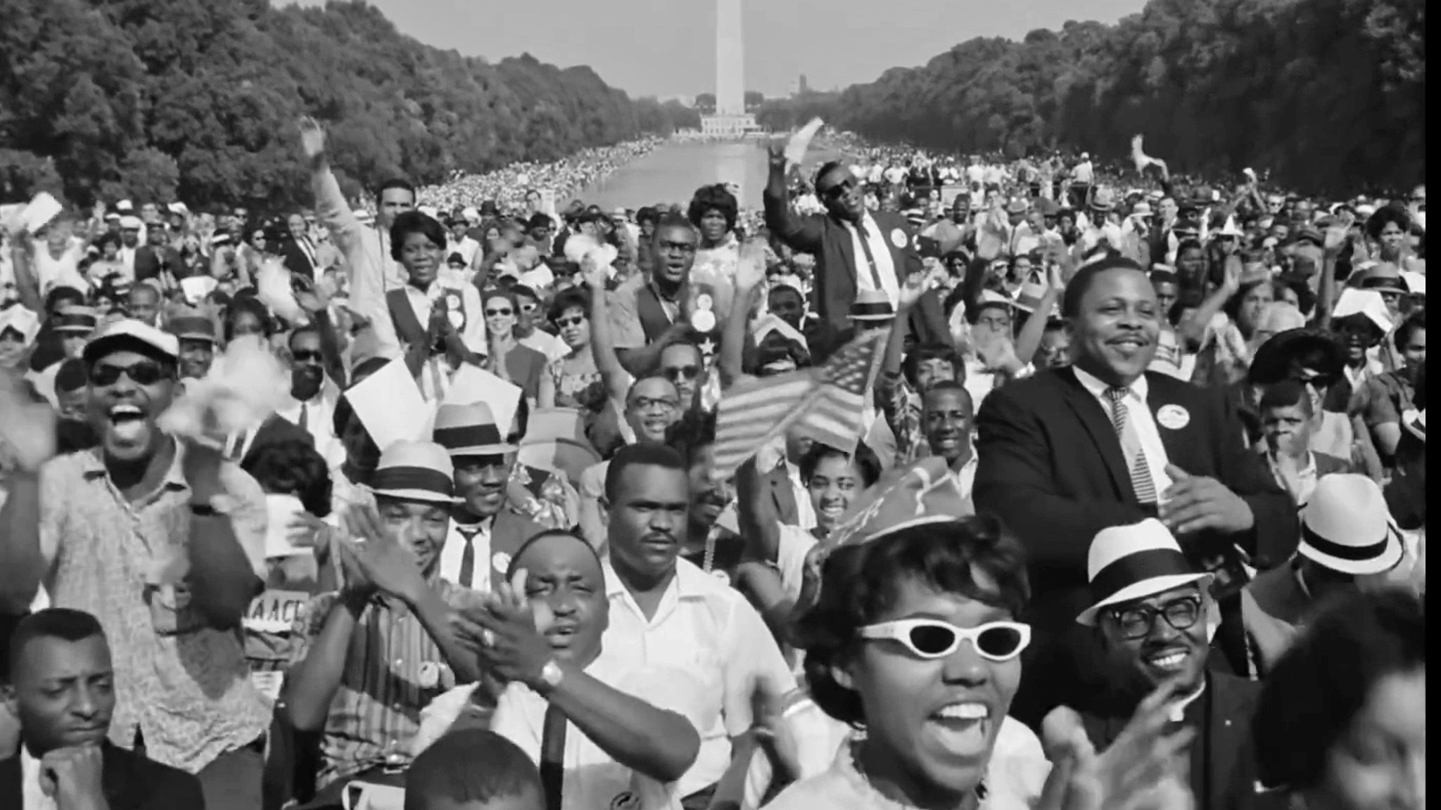 King delivered his famous 'I Have a Dream speech to hundreds of thousands of civil rights supporters in Washington in 1963. Pic: Dogwoof/MLK/FBI