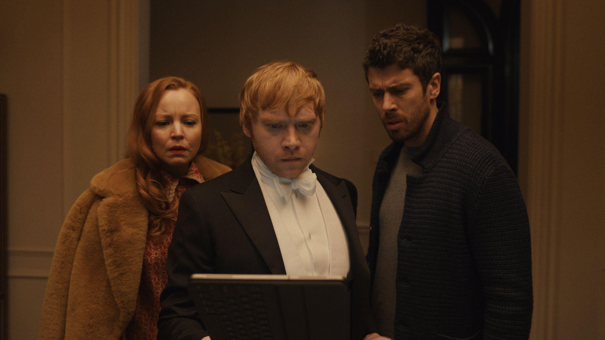 Lauren Ambrose, Rupert Grint and Toby Kebbell in Servant, premiering 15 January on Apple TV+.