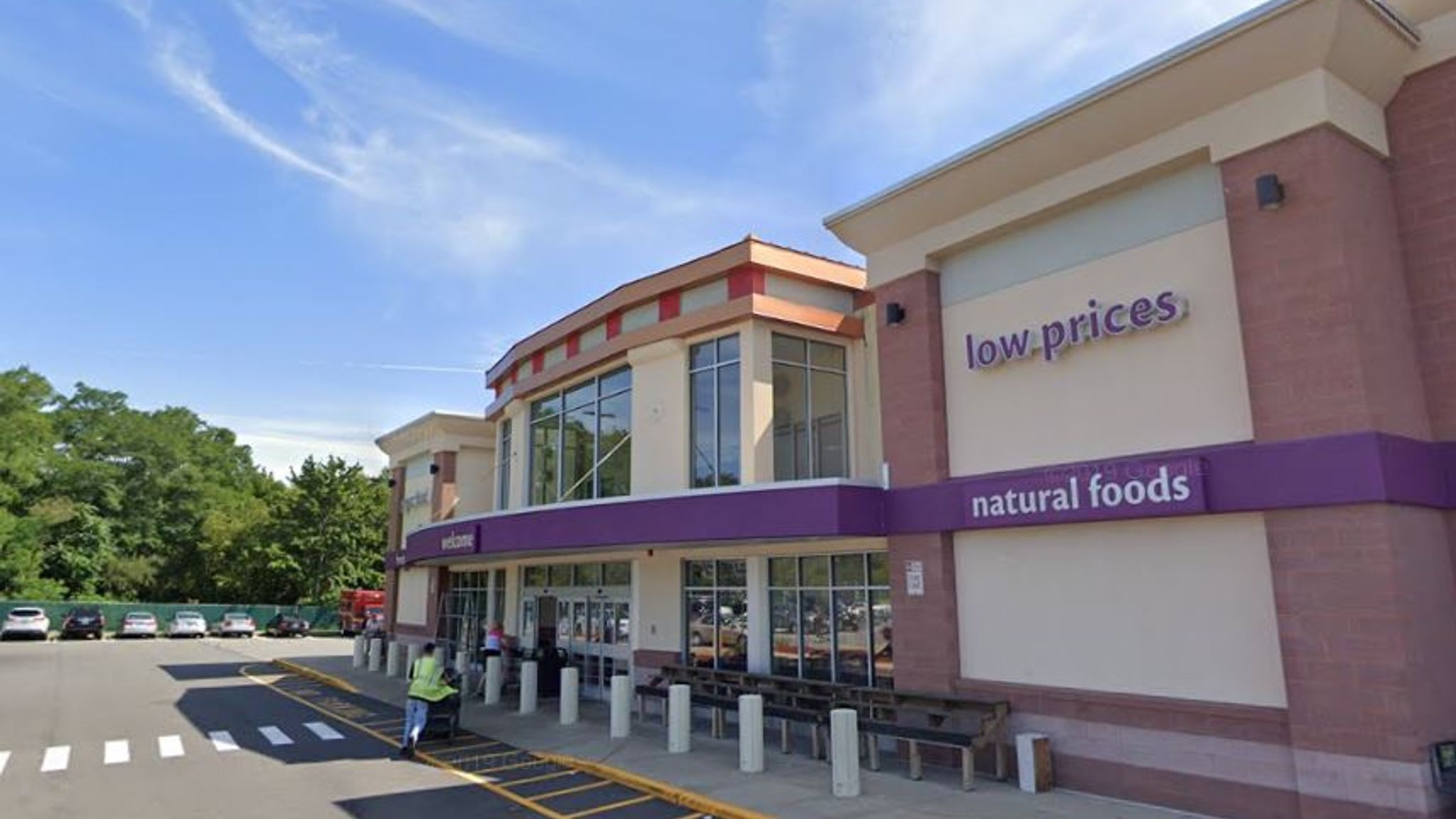 The women were caught failing to scan every item at the self-checkout at a Stop & Shop in Somerset, Massachusetts. Pic: Google Streetview