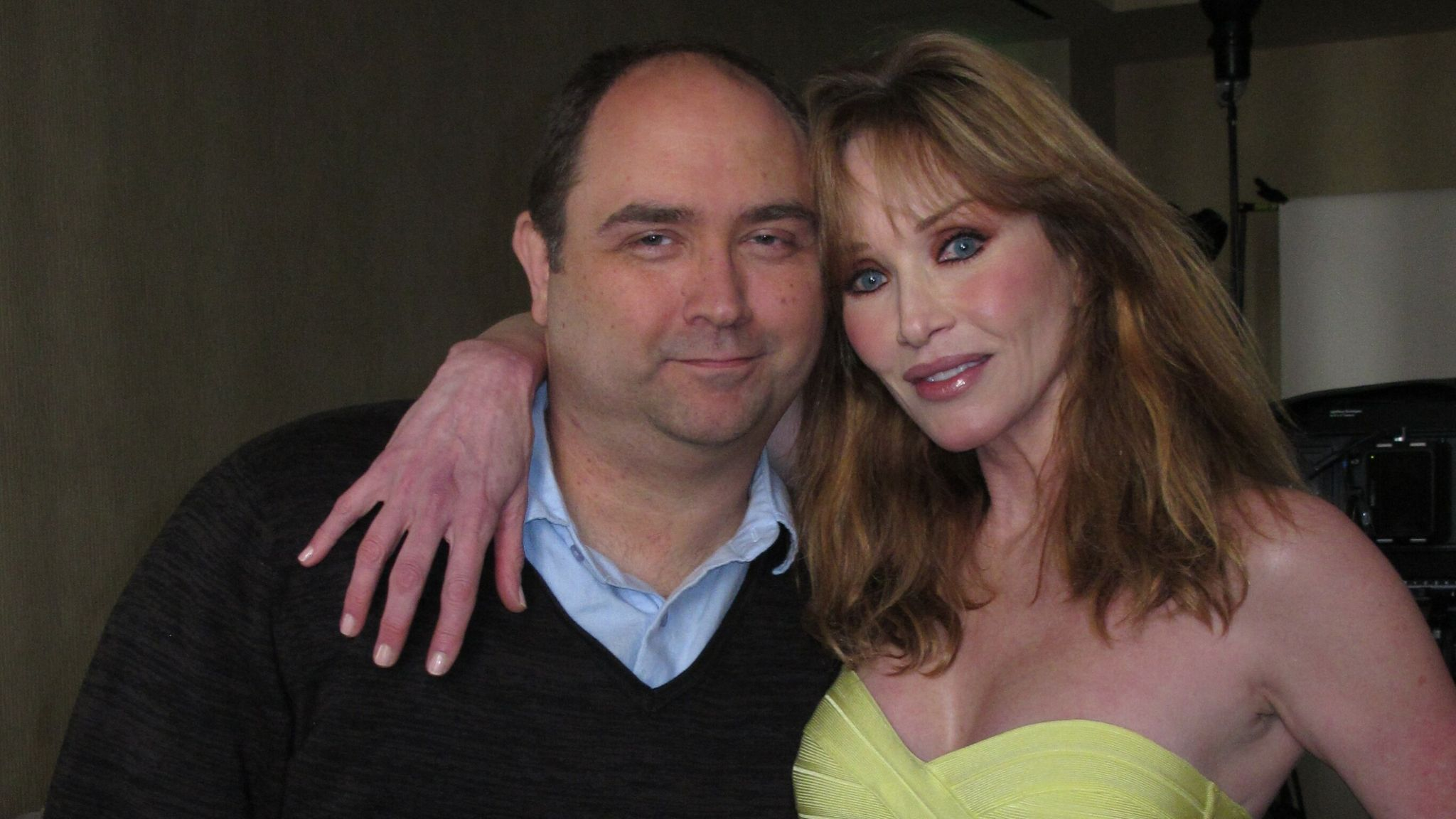 Actress Tanya Roberts with her agent and friend Mike Pingel