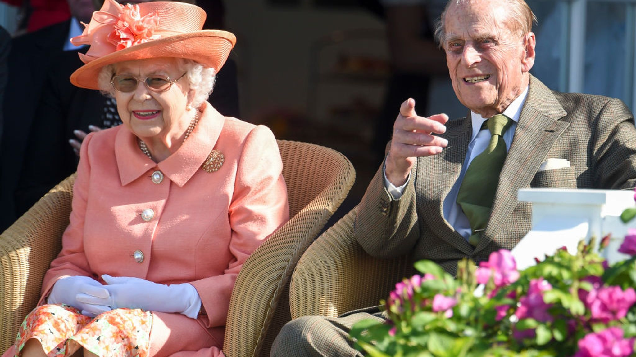 The Queen, left, will turn 95 in 2021 while her husband Philip, right, will turn 100