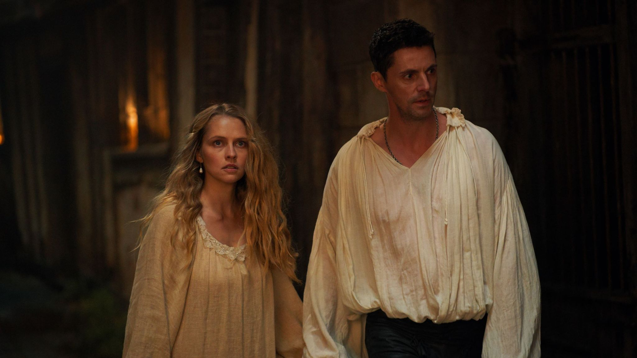 Teresa Palmer and Matthew Goode in A Discovery Of Witches. Pic: Sky UK