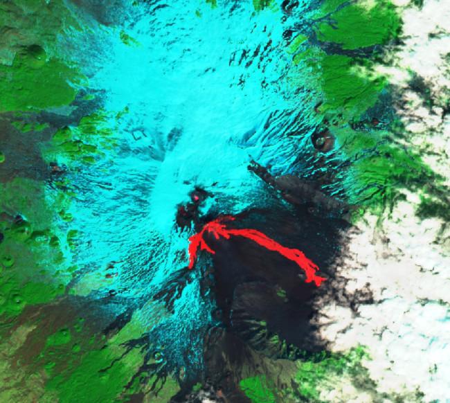IR image of Etna Lava Flows