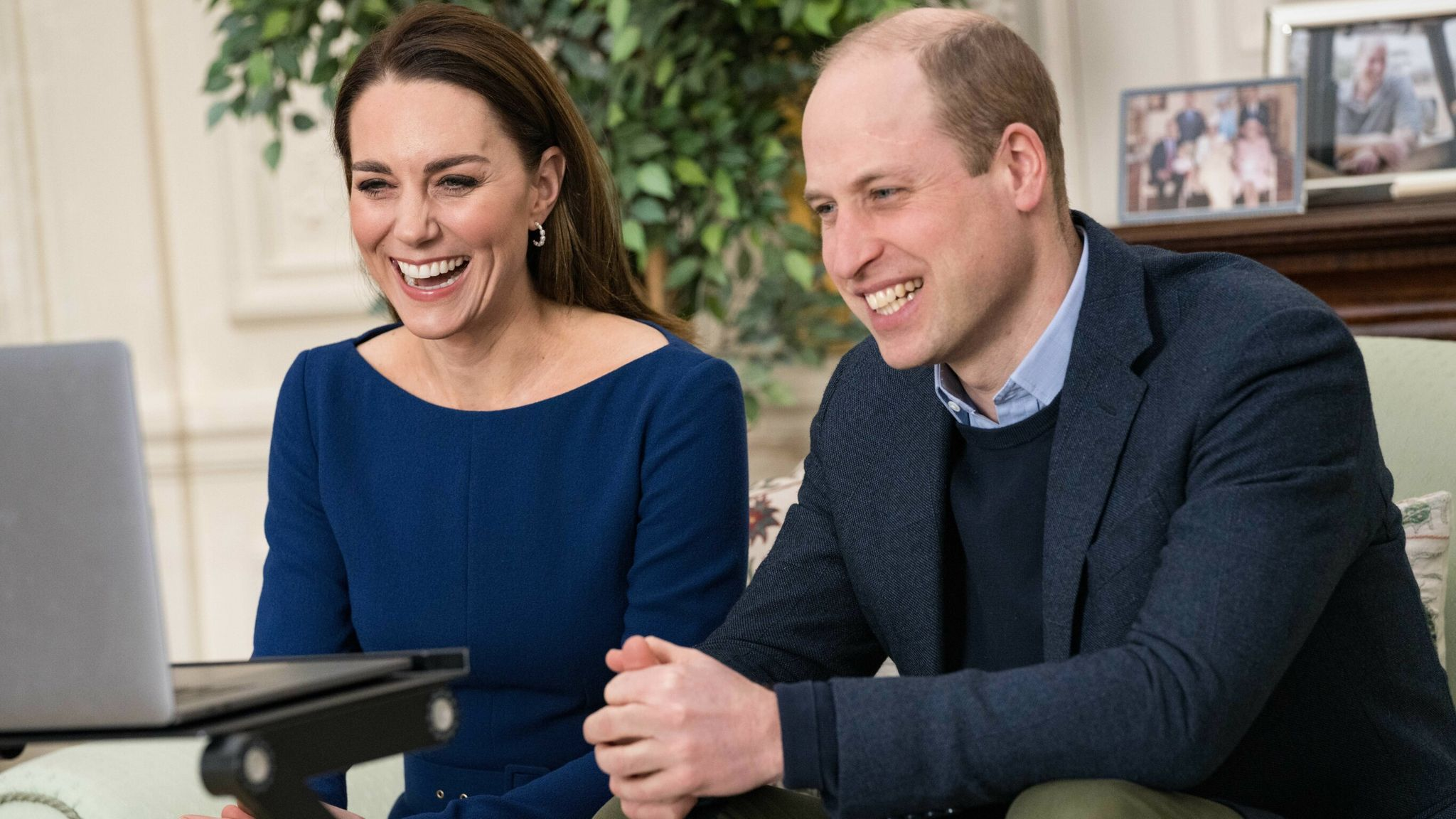 The Duke and Duchess of Cambridge during their virtual engagement