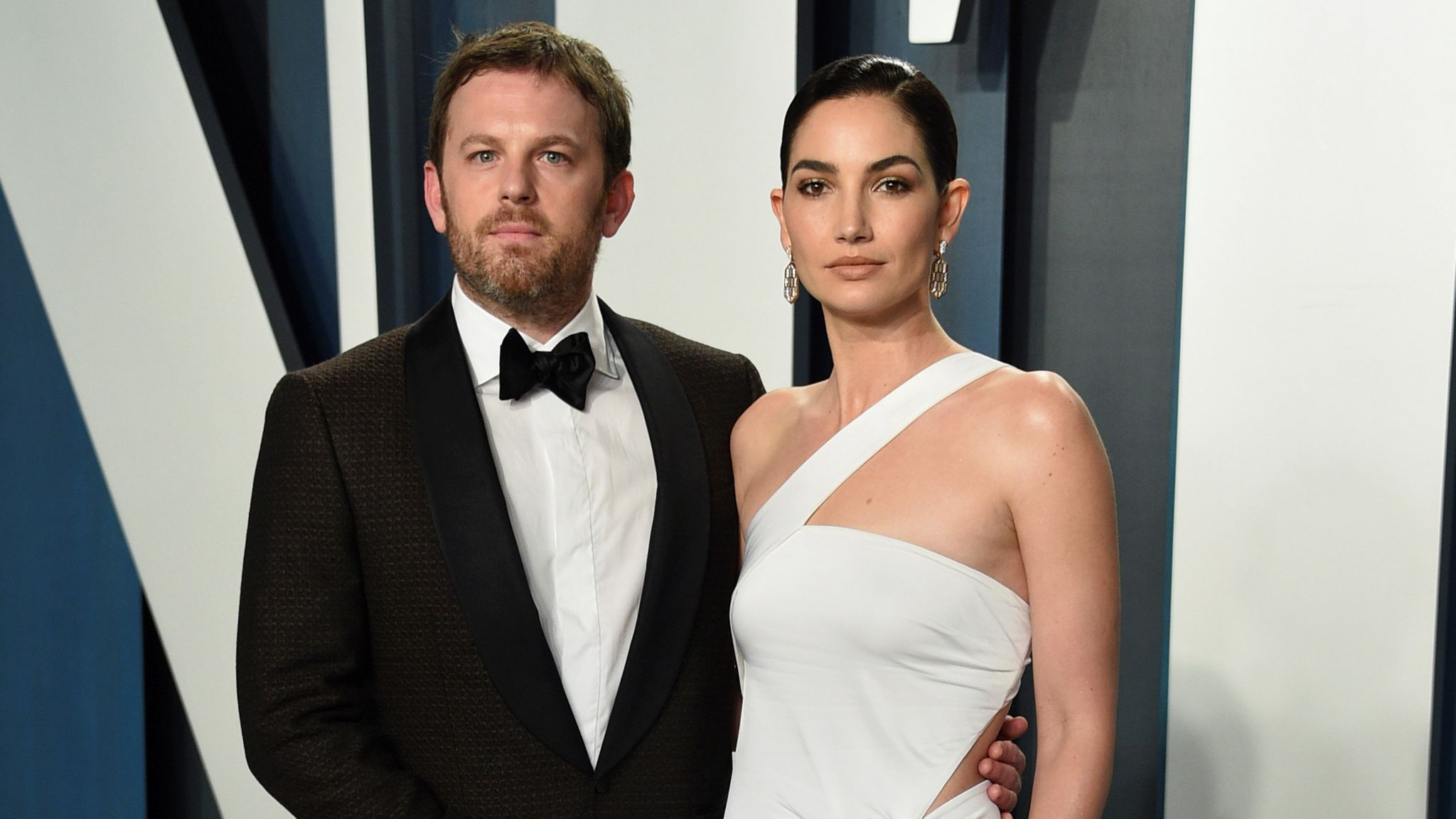Caleb Followill, left, and Lily Aldridge arrive at the Vanity Fair Oscar Party in February 2020. Pic: AP