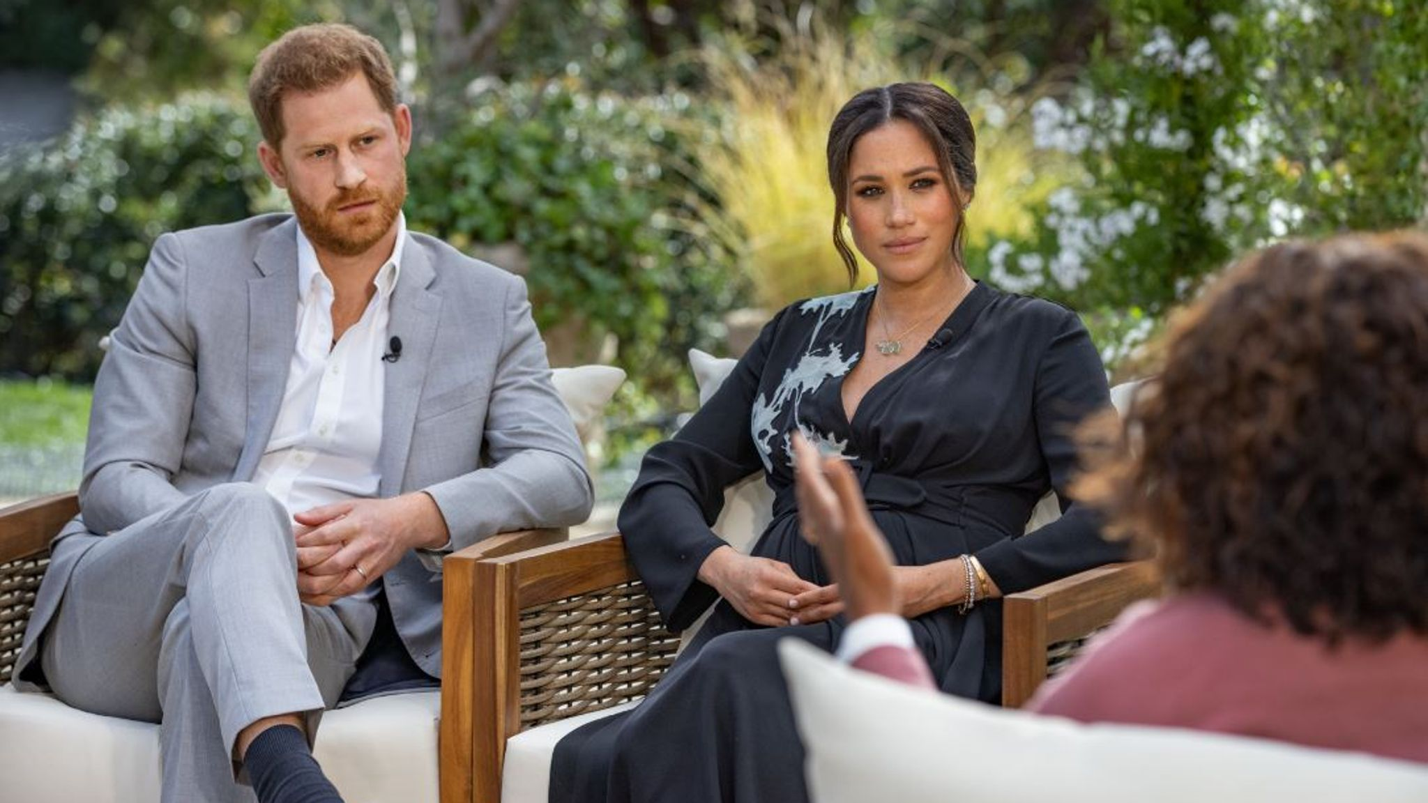 Harry and Meghan's interview with Oprah Winfrey will air on Sunday Pic: CBS
