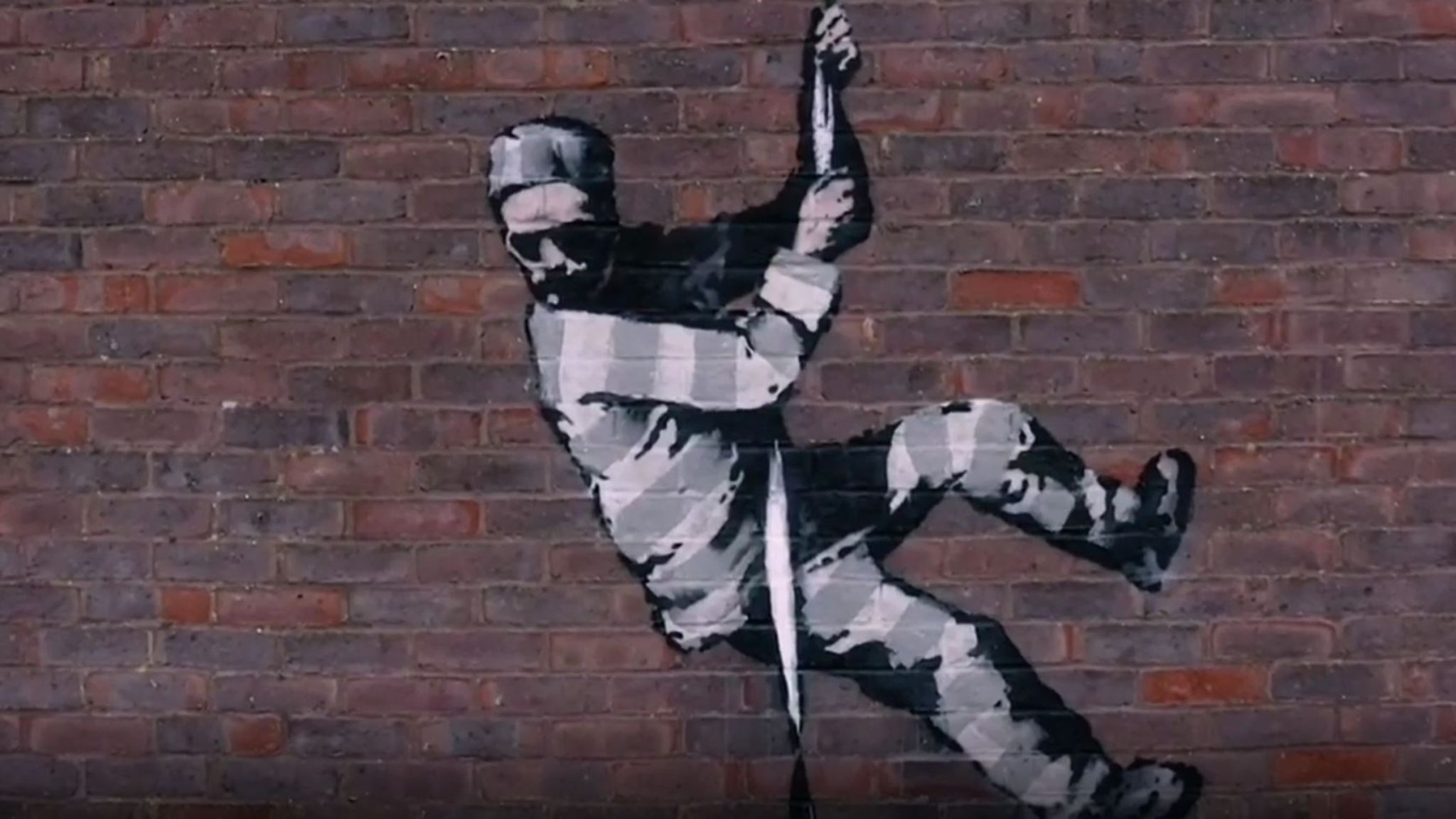 The inmate is escaping the jail. Pic: banksy/Instagram