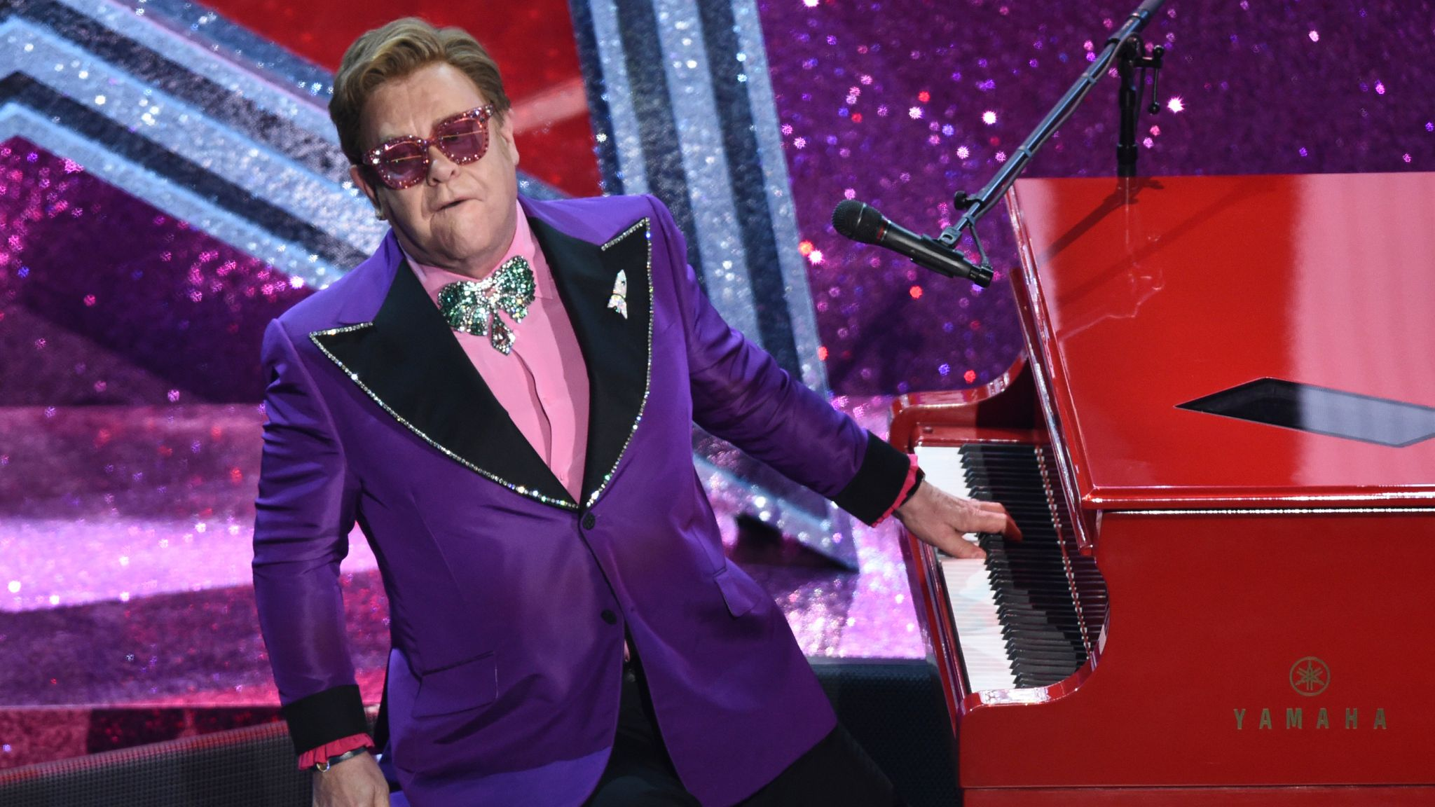Sir Elton was one of Archewell Audio's first guests. Pic: AP Photo/Chris Pizzello