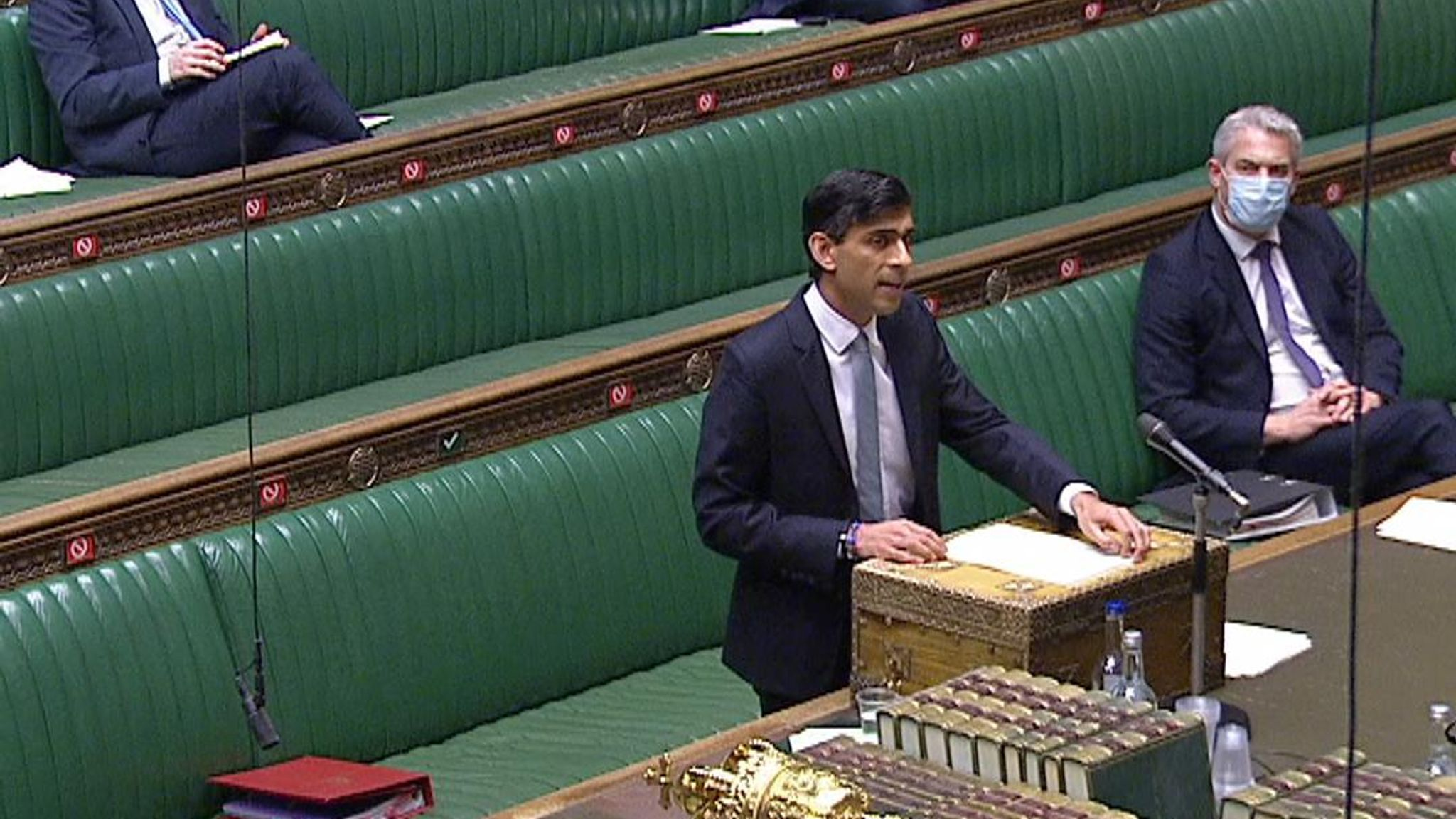 Chancellor Rishi Sunak lays out his plans for freezing income tax thresholds and increasing corporation tax to 23%.