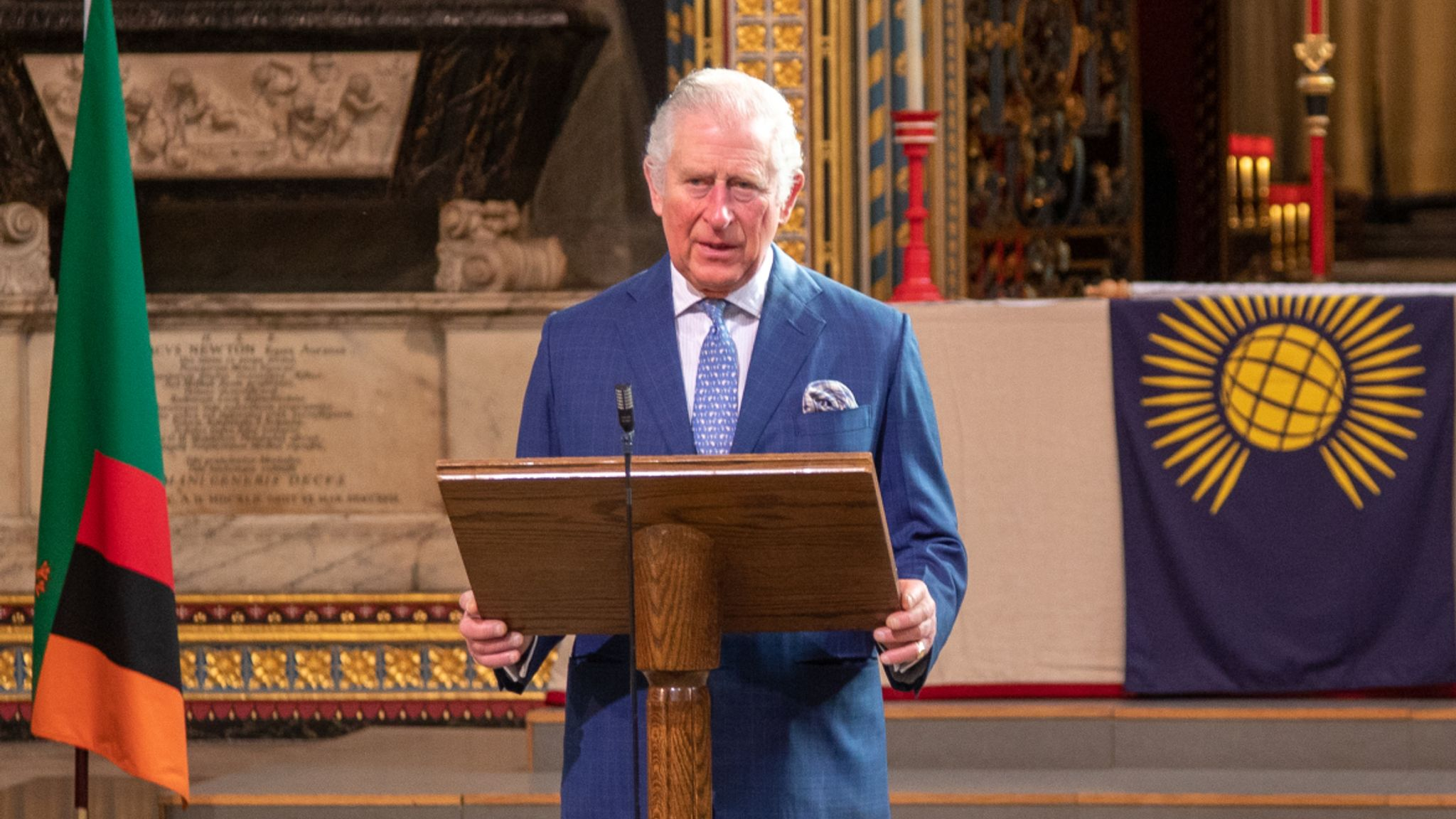 HRH The Prince of Wales speaks to the Commonwealth from Westminster Abbey in advance of Commonwealth Day 2021. Pic: Westminster Abbey/Picture Partnership
